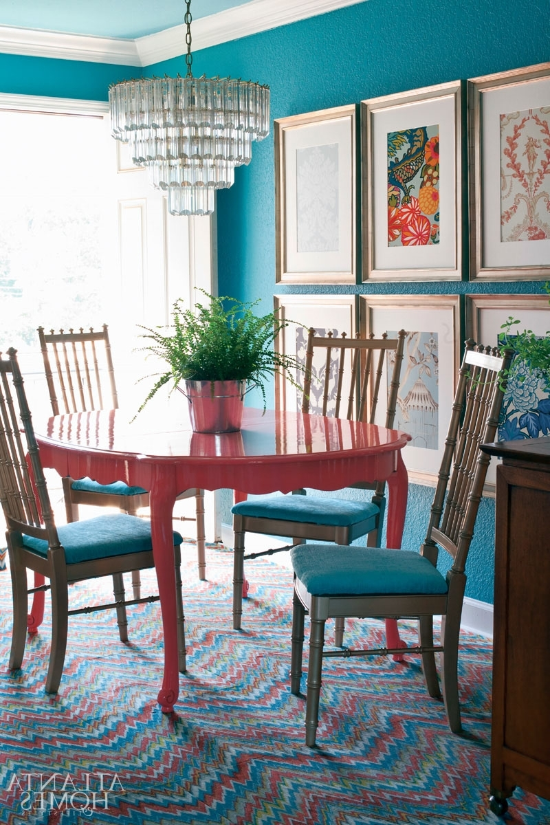 Trendy Green Dining Tables Inside Colorful Painted Dining Table Inspiration (View 21 of 25)
