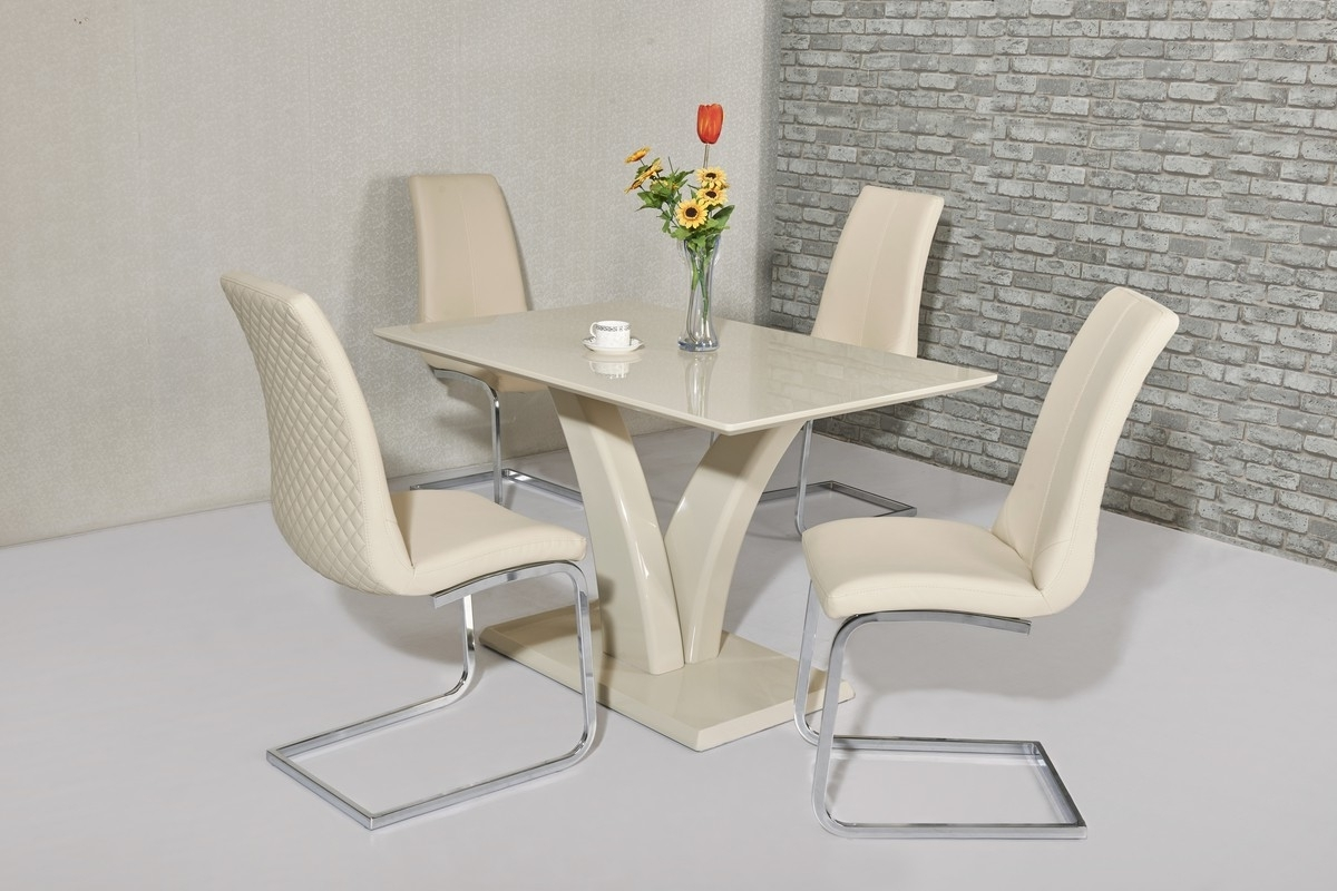 Trendy High Gloss Cream Dining Tables Throughout Wow Slim High Gloss Cream120 Cm Dining Table (View 11 of 25)
