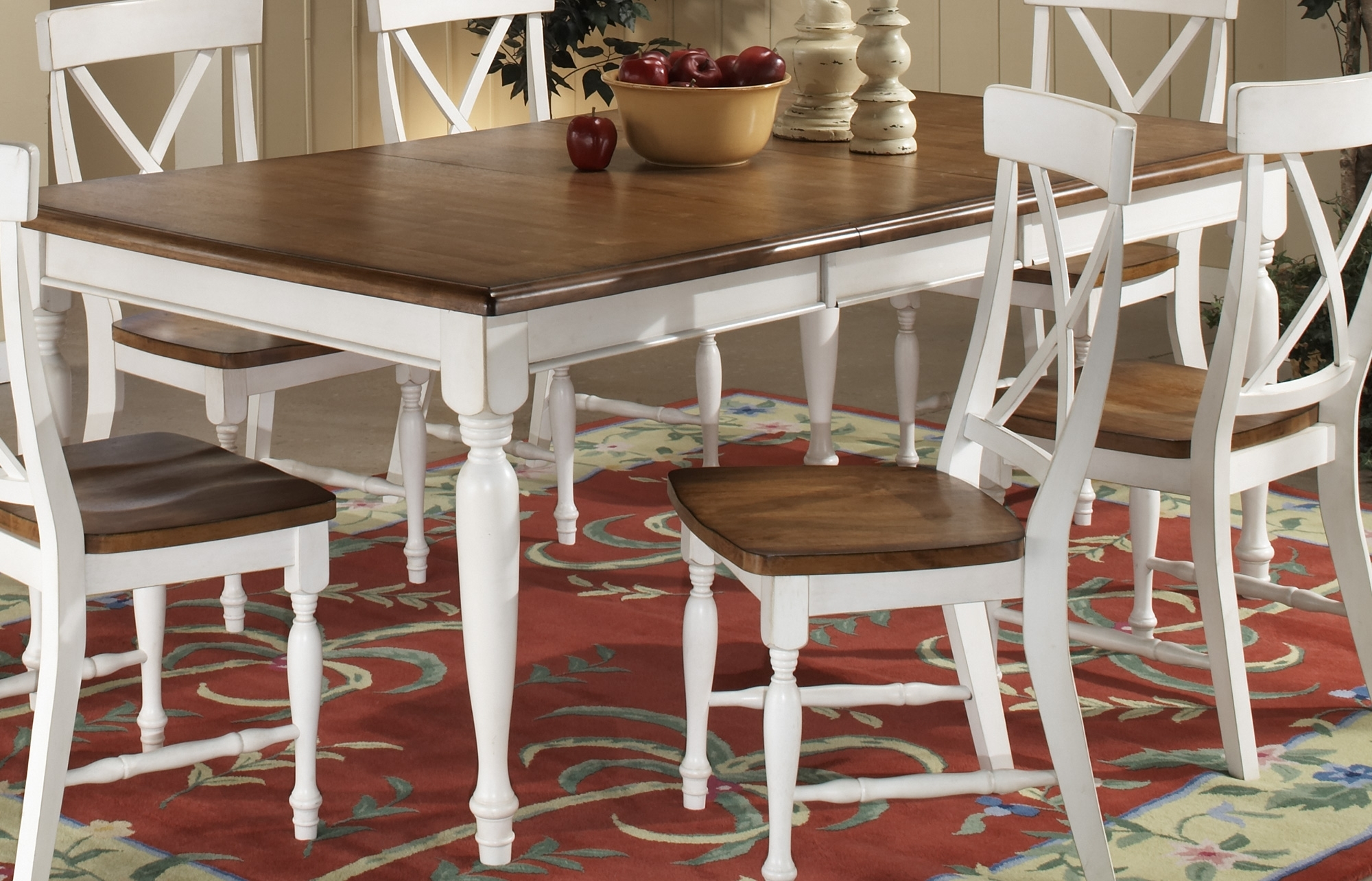 Trendy Homelegance Expedition Dining Table White 715W 76 Within White Dining Tables (View 16 of 25)