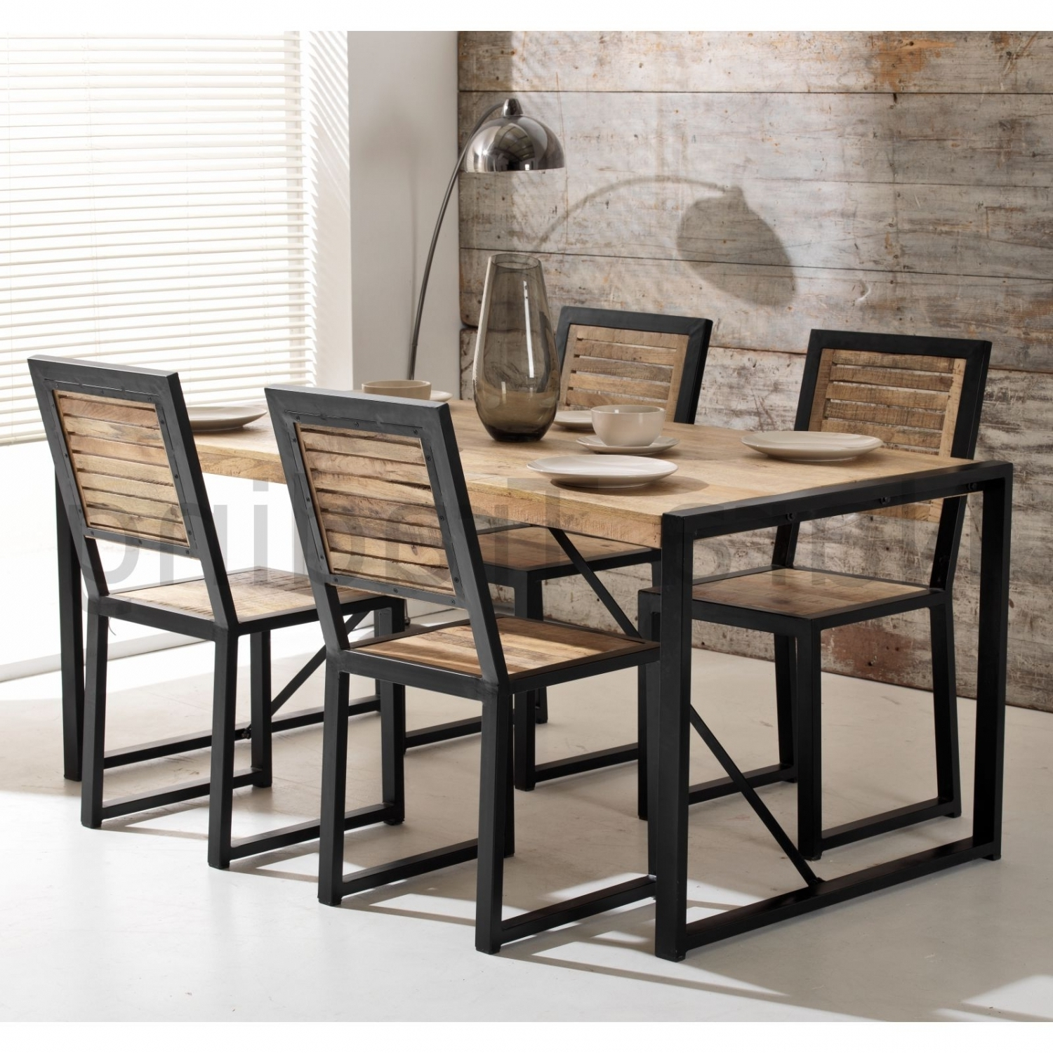 Trendy Indian Wood Dining Tables In Harbour Indian Reclaimed Wood Furniture Dining Table With 4 Chairs (View 22 of 25)