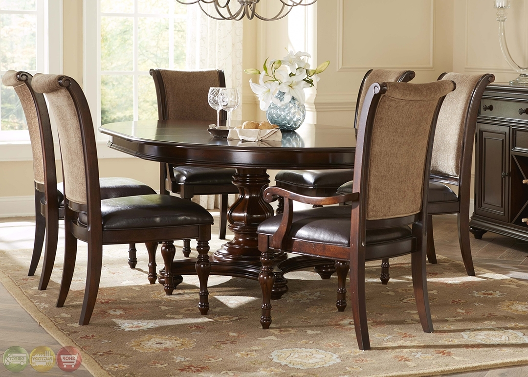 Trendy Kingston Plantation Traditional Oval Table Chairs 7 Pc Collapsible Within Kingston Dining Tables And Chairs (View 16 of 25)