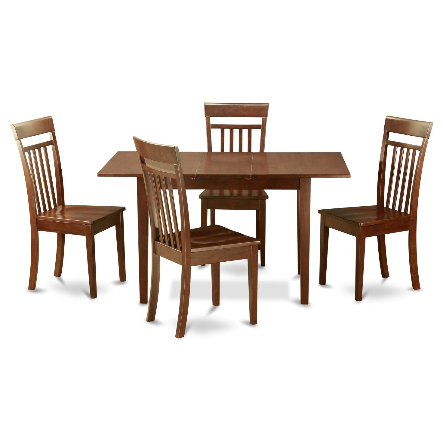 Trendy Mahogany Dining Room Table And 4 Dining Room Chairs Chairs 5 Piece Intended For Mahogany Dining Table Sets (View 19 of 25)