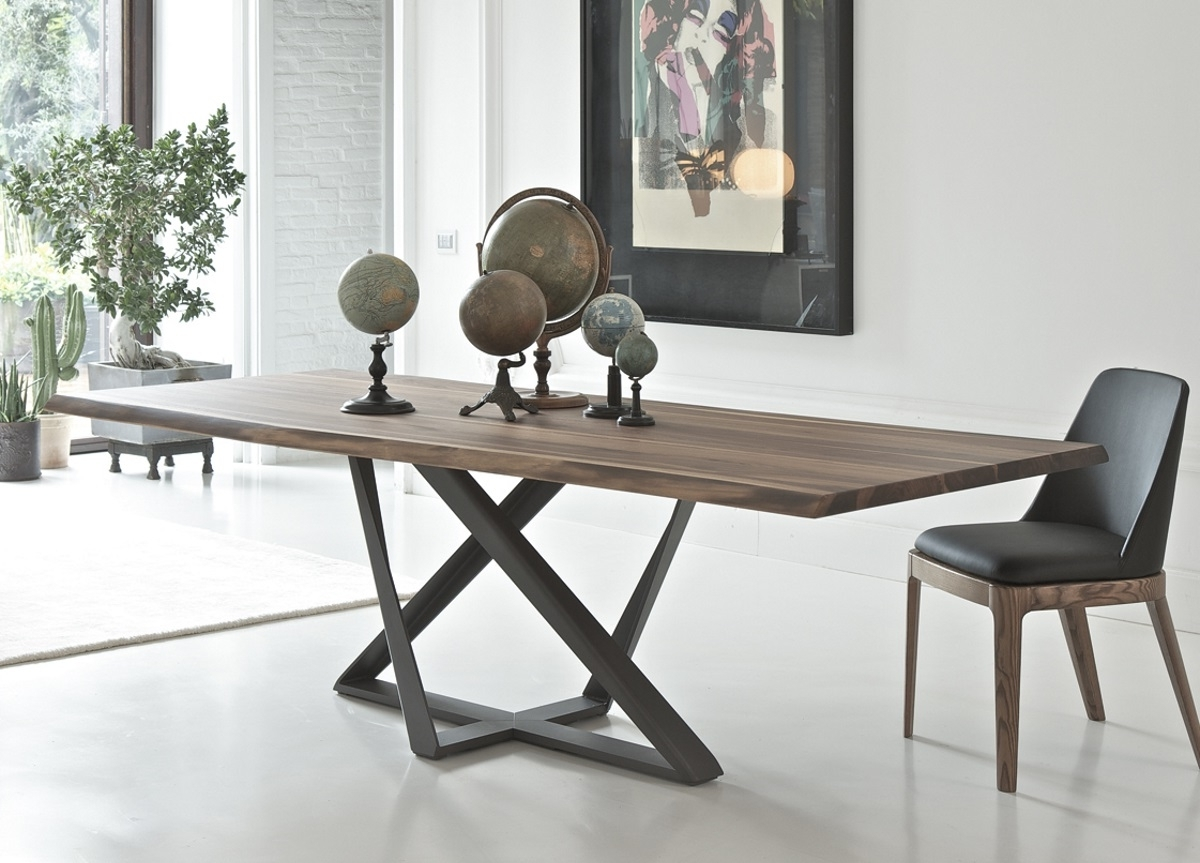 Trendy Modern Dining Tables Inside Bontempi Millennium Wood Dining Table (View 21 of 25)