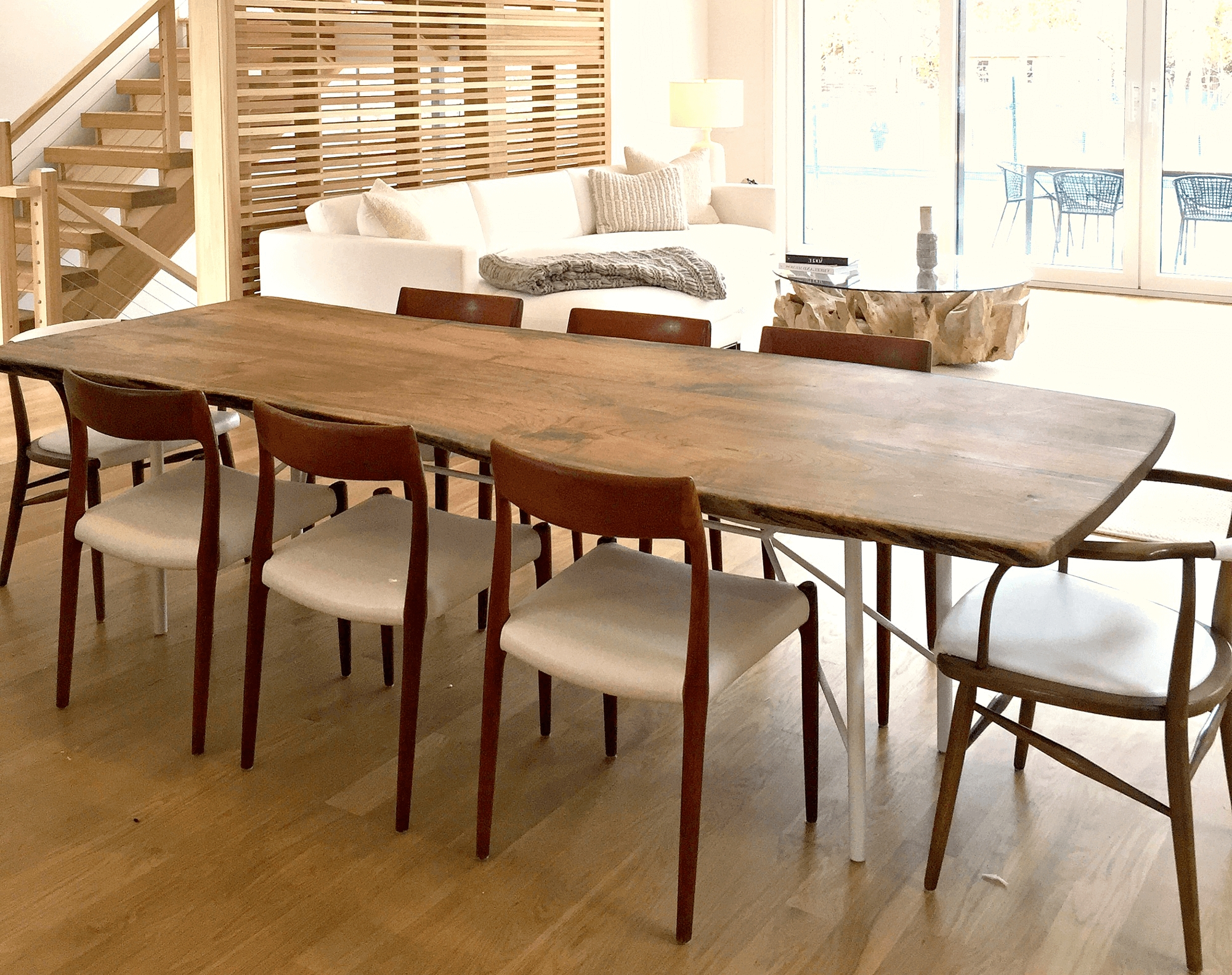 Trendy New York Dining Tables Throughout Modern, Live Edge English Walnut Table Designed For Luxury Sag (View 24 of 25)