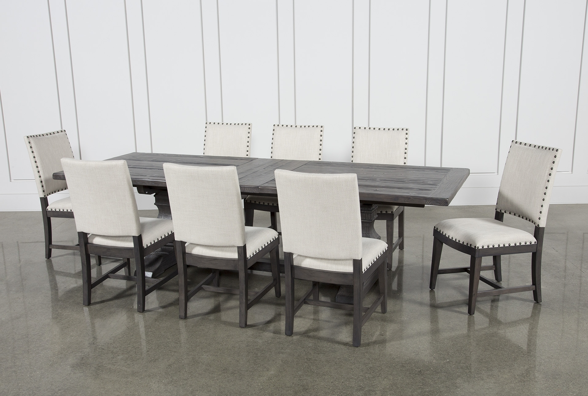 Trendy Norwood Rectangle Extension Dining Tables Within Norwood 9 Piece Rectangular Extension Dining Set With Uph Side (View 5 of 25)