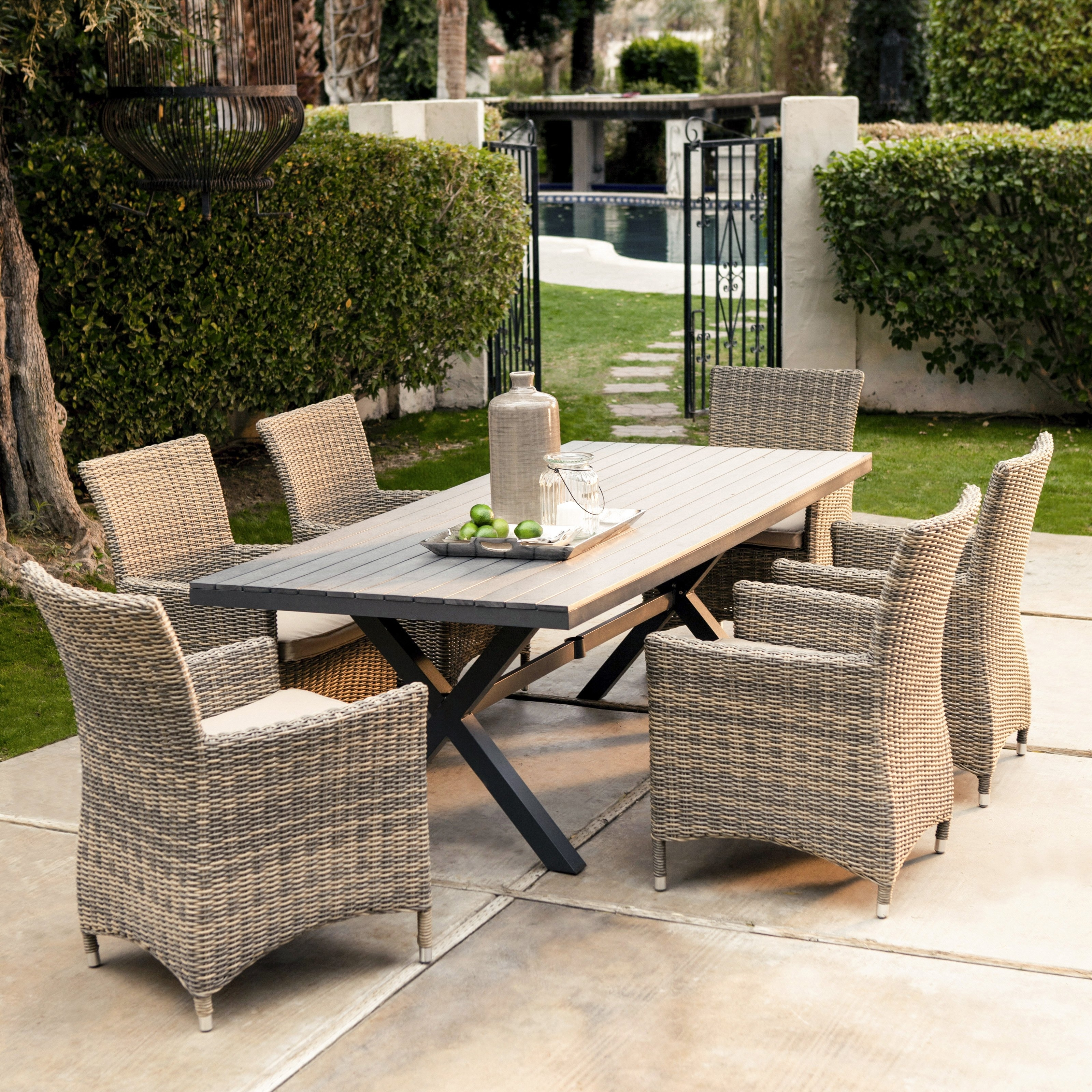Trendy Outdoor Dinette Sets' Ideas – Bellissimainteriors Pertaining To Outdoor Dining Table And Chairs Sets (View 25 of 25)
