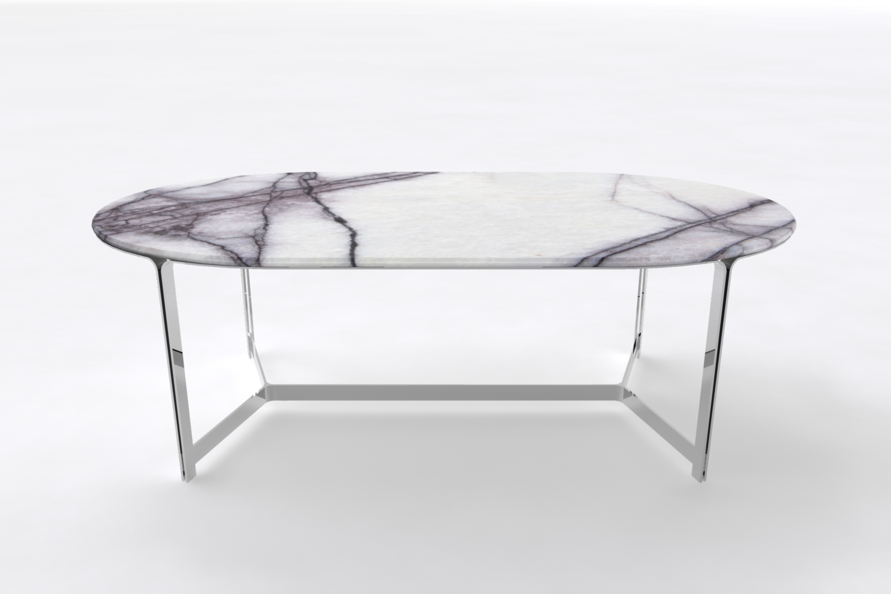 Trendy Oval Marble Table With Steel Frame (View 3 of 25)