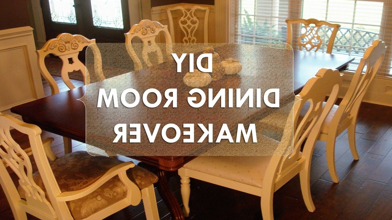 "Trendy Painted Dining Tables Throughout Diy Dining Room Makeover ""just Chalk Paint & Fabric"" – Youtube (View 7 of 25)"