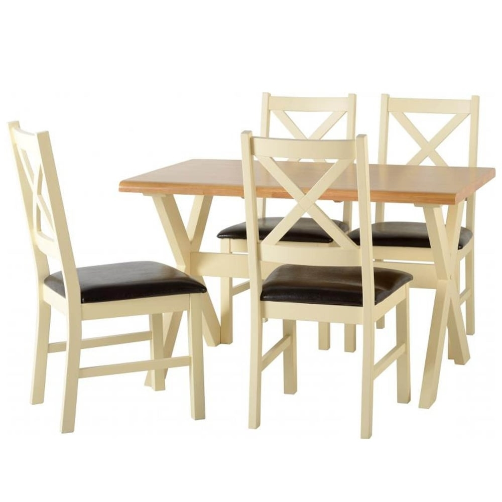 Trendy Portland Dining Set With 4 Chairs – Furniture From Delta House And Regarding Portland Dining Tables (View 22 of 25)