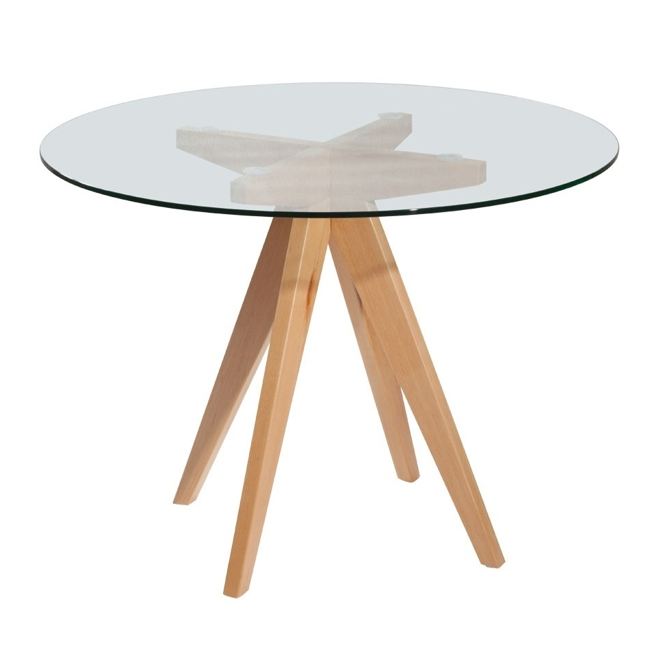 Trendy Prouve Round Dining Table – Living Edge Within Round Glass And Oak Dining Tables (View 25 of 25)