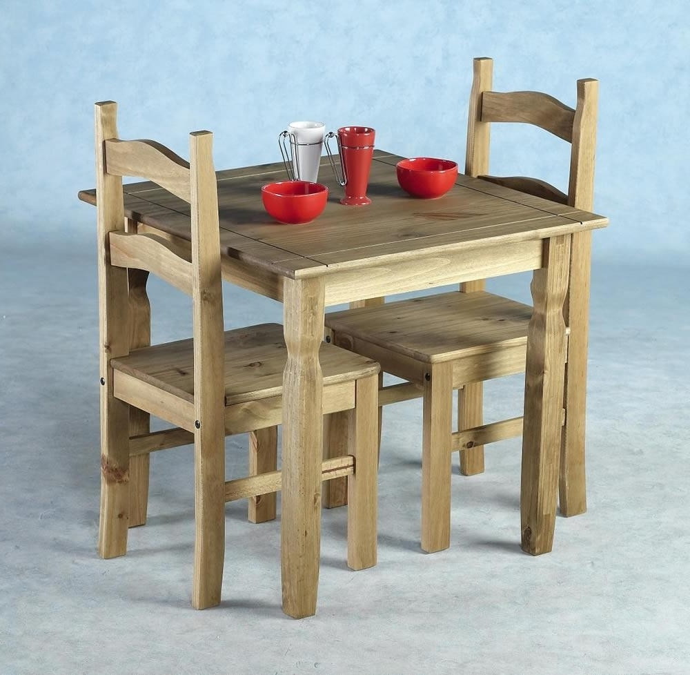 Trendy Rio Distressed Waxed Pine Square Dining Table With 2 Dining Table With Regard To Rio Dining Tables (View 5 of 25)