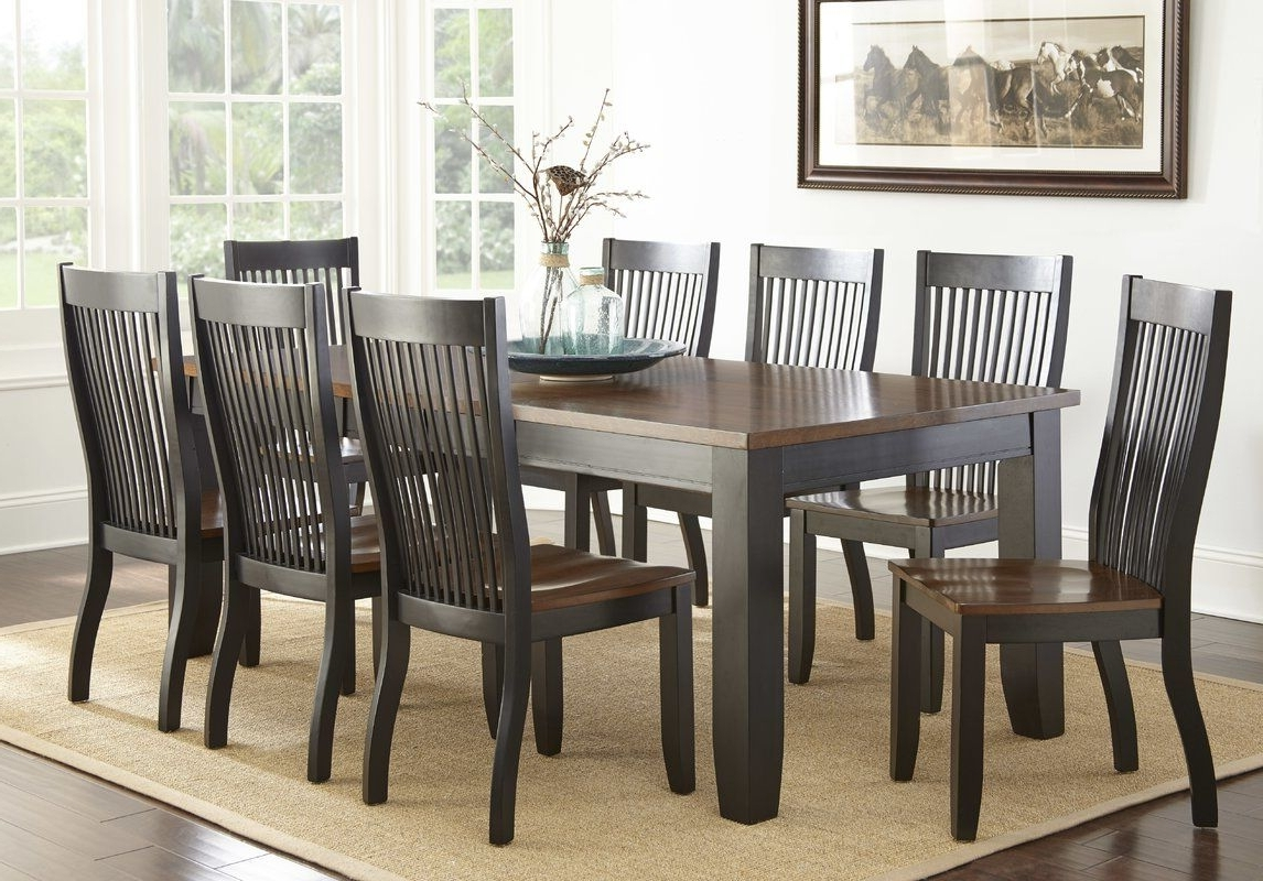 Trendy Rocco 9 Piece Extension Counter Sets Throughout Griffey 9 Piece Dining Set (View 22 of 25)