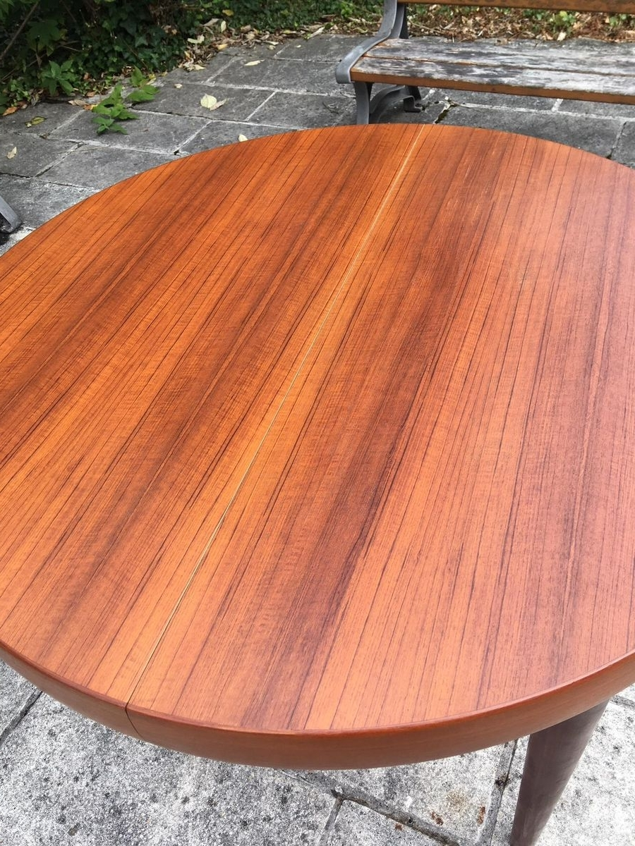 Trendy Round Teak Dining Tables Throughout Round Teak Dining Table, 1960S For Sale At Pamono (View 24 of 25)