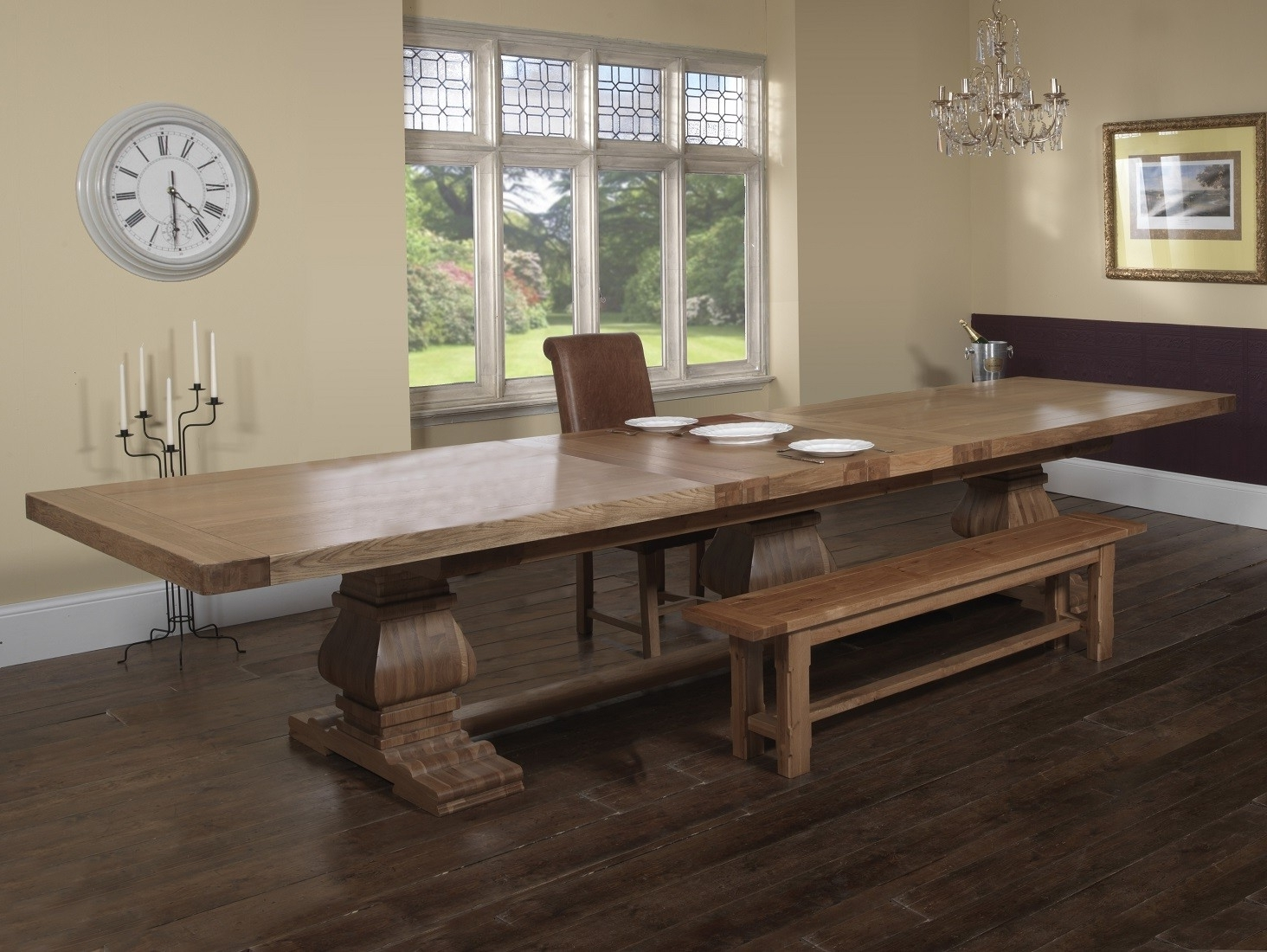 Trendy Royal Dining Tables In Windermere Rustic Solid Oak Grand Ark Royal Extending Monastery (View 24 of 25)