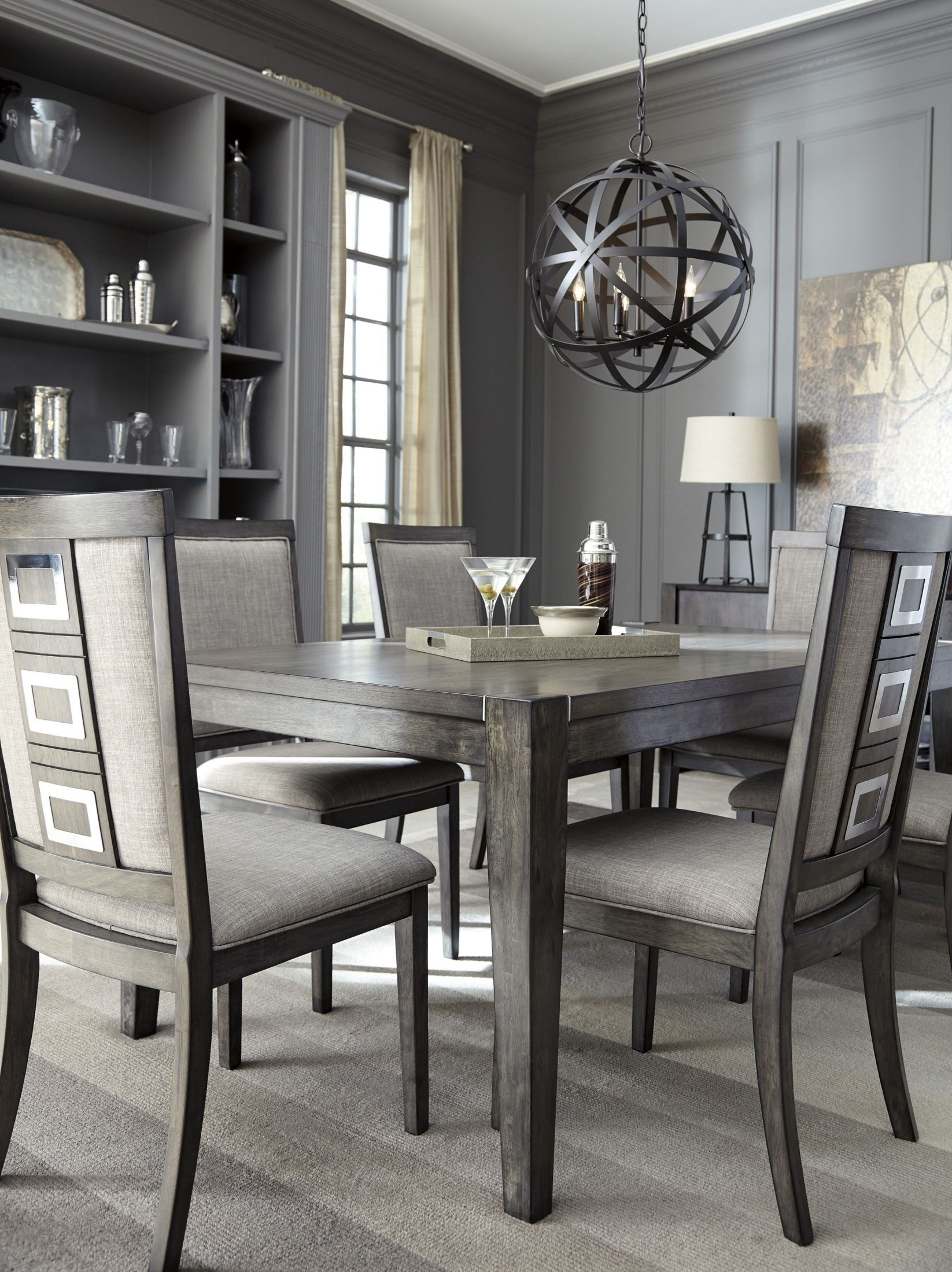 Trendy Signature Designashley Chadoni Gray Rectangular Extendable Throughout Extendable Dining Tables Sets (View 23 of 25)