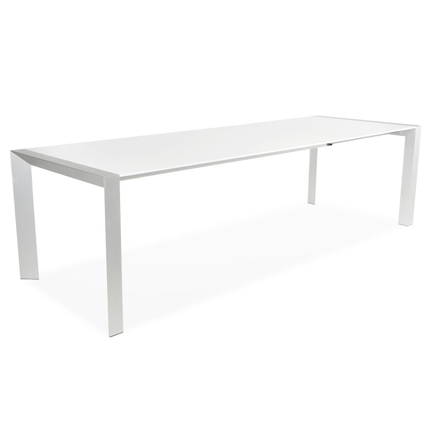 Trendy Sleek Dining Tables Inside Extendable Dining Table With Sleek Design Vigo (White) – Vistadeco (View 23 of 25)