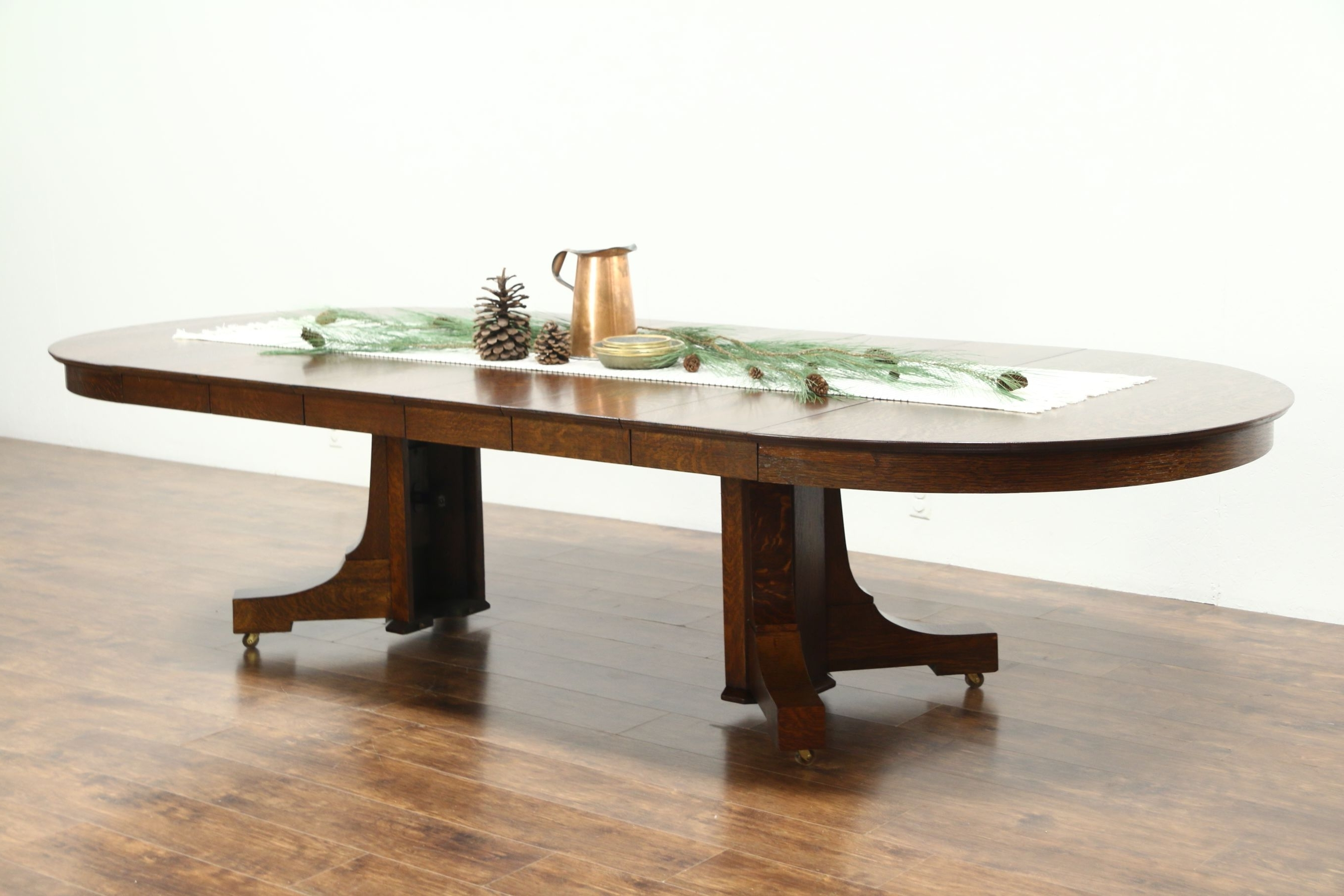 """Trendy Sold – Round 54"""" Quarter Sawn Oak Antique Craftsman Dining Table, 6 Inside Craftsman Round Dining Tables (View 24 of 25)"""