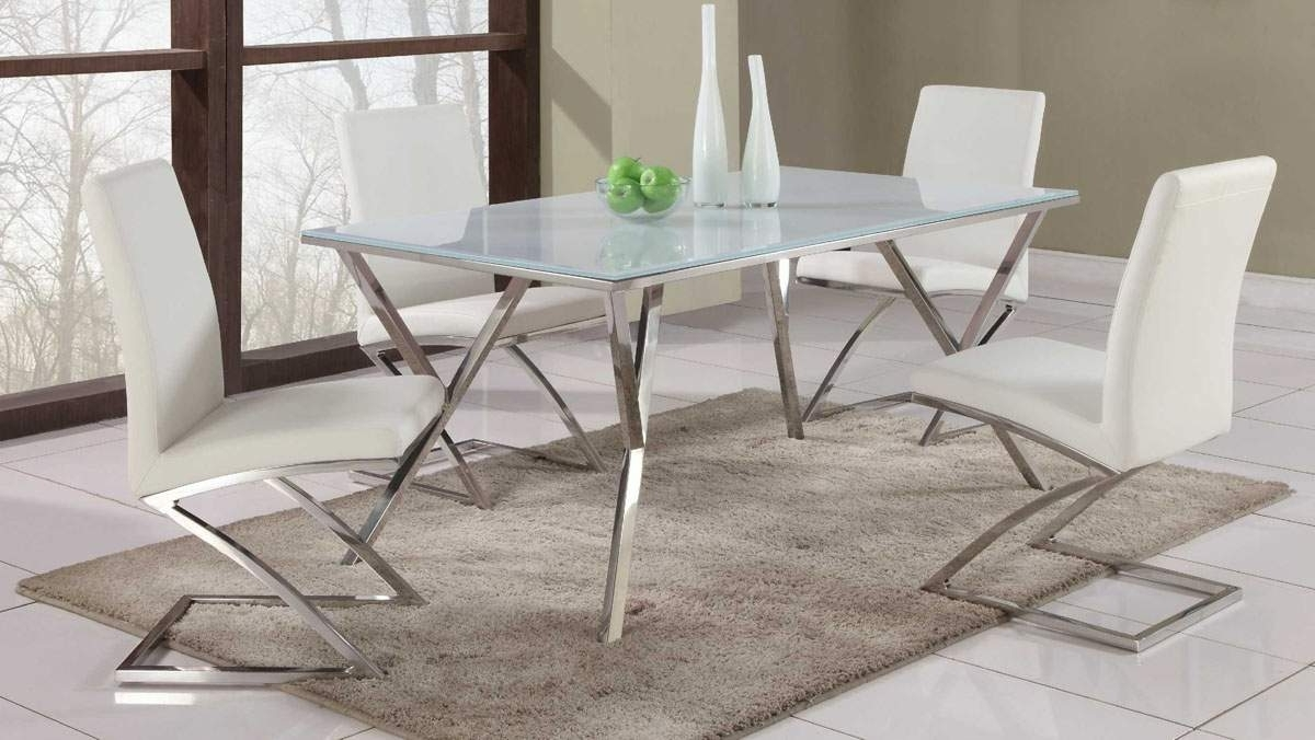 Featured Photo of Chrome Leather Dining Chairs