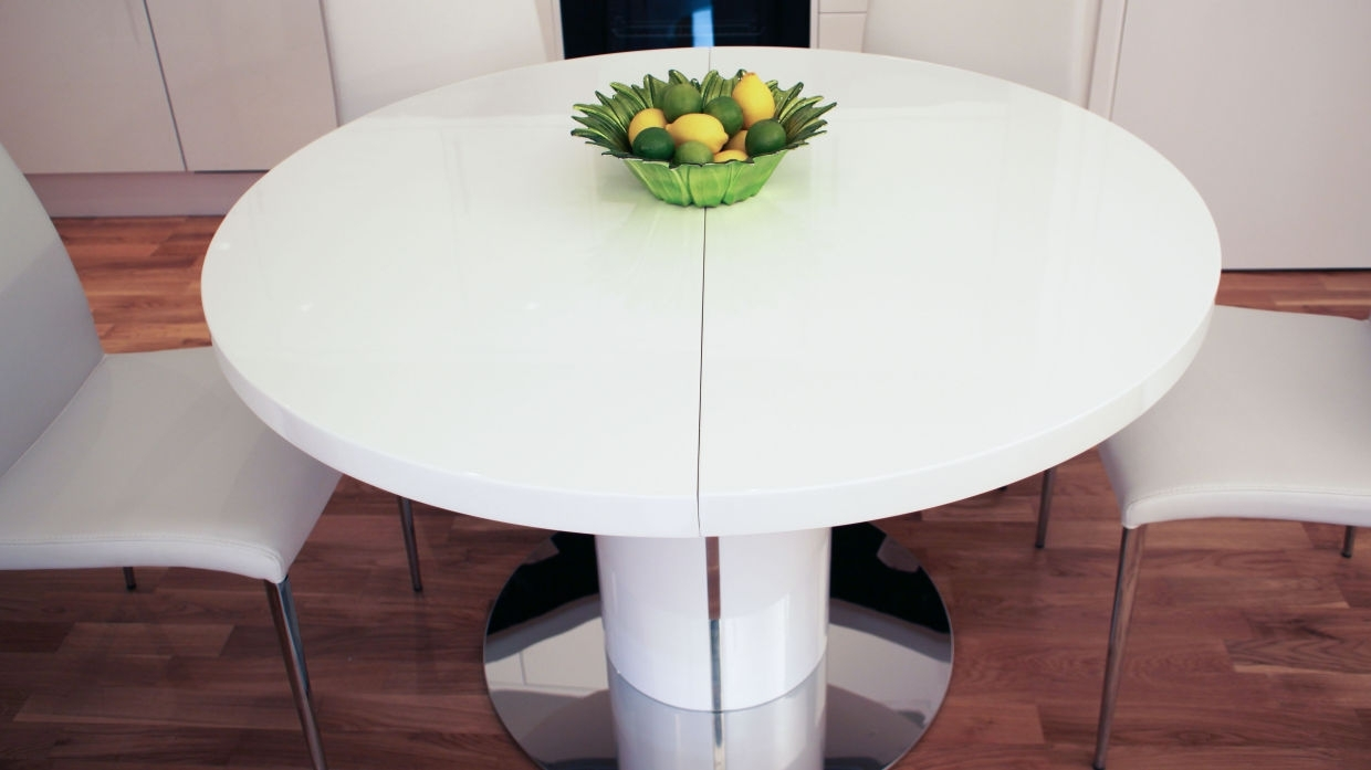 Trendy White Square Extending Dining Tables Intended For Dining Tables: Amusing Rustic Farmhouse Dining Table Rustic Round (View 9 of 25)