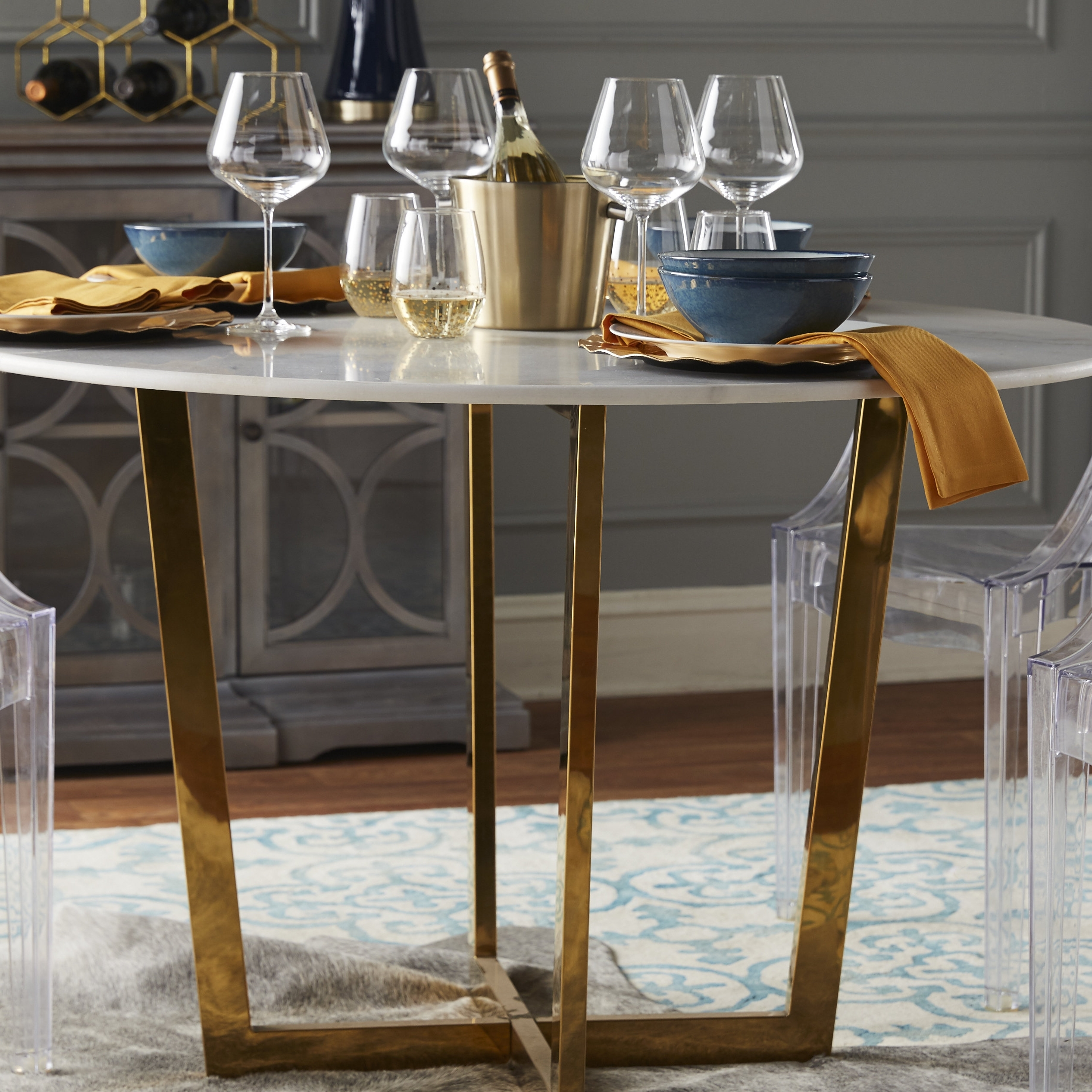 Trendy Willa Arlo Interiors Natanael Marble Dining Table & Reviews (View 24 of 25)