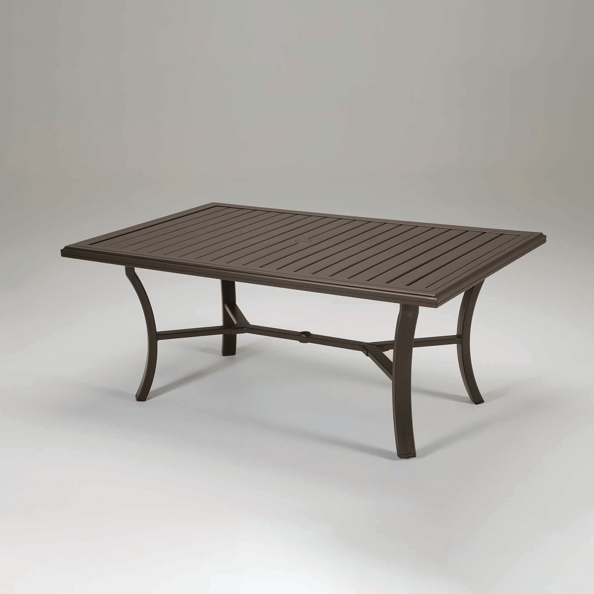 "Tropitone Banchetto 66X42"" Rectangular Dining Table – Leisure Living With Current Laurent Rectangle Dining Tables (View 23 of 25)"