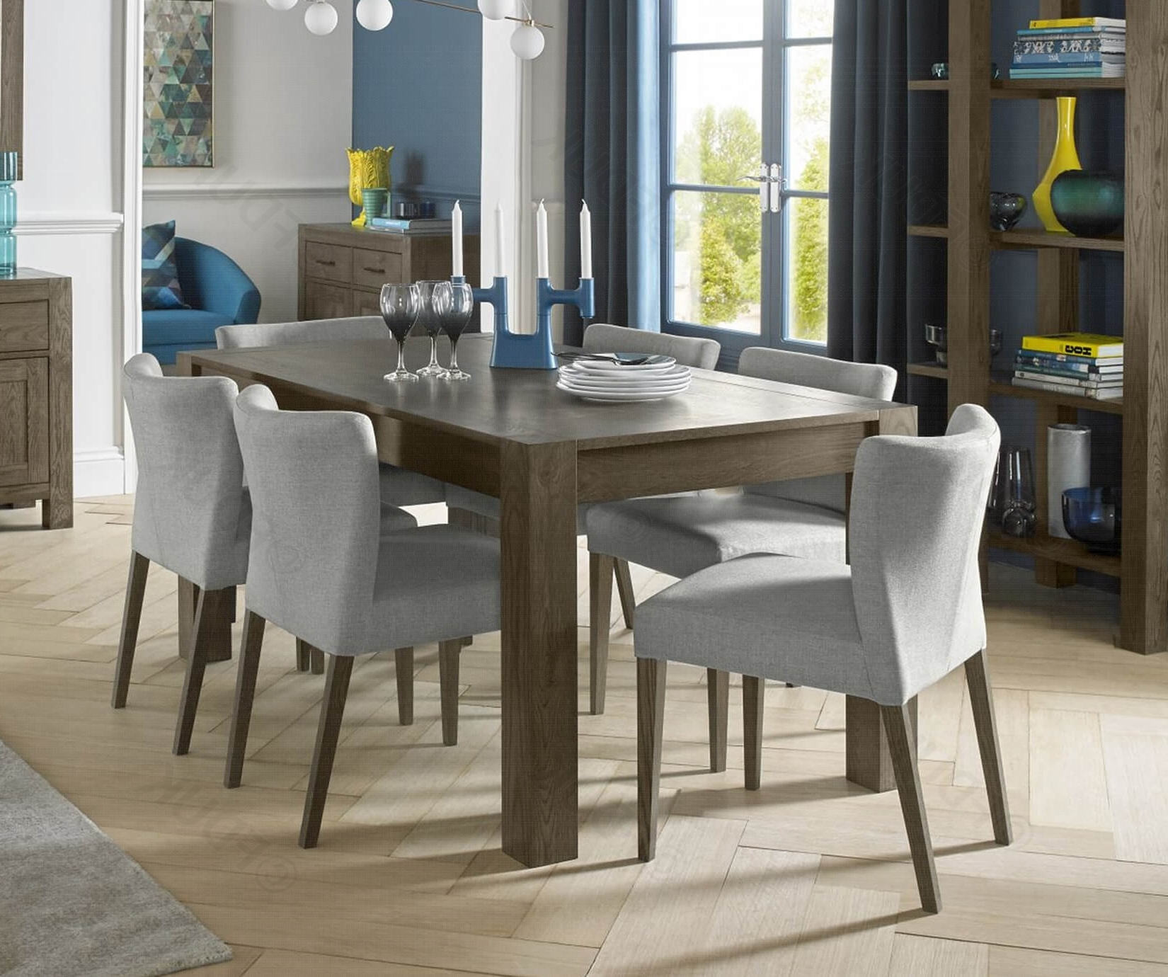 Turin Dark Oak Large Extension Dining Table With Regard To Trendy Cheap Oak Dining Tables (View 16 of 25)
