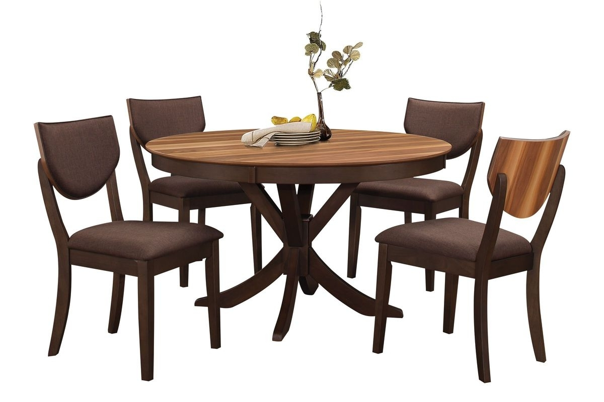 Turner Round Dining Table + 4 Side Chairs At Gardner White Throughout Widely Used Round Dining Tables (View 19 of 25)