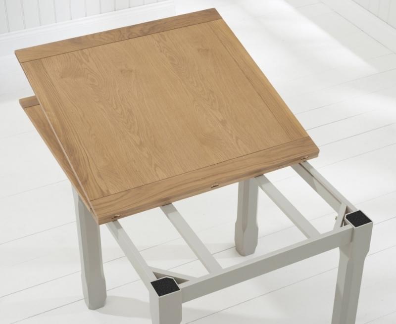 Udine Solid Oak 90Cm-180Cm Flip Top Extending Dining Table throughout Most Popular Flip Top Oak Dining Tables