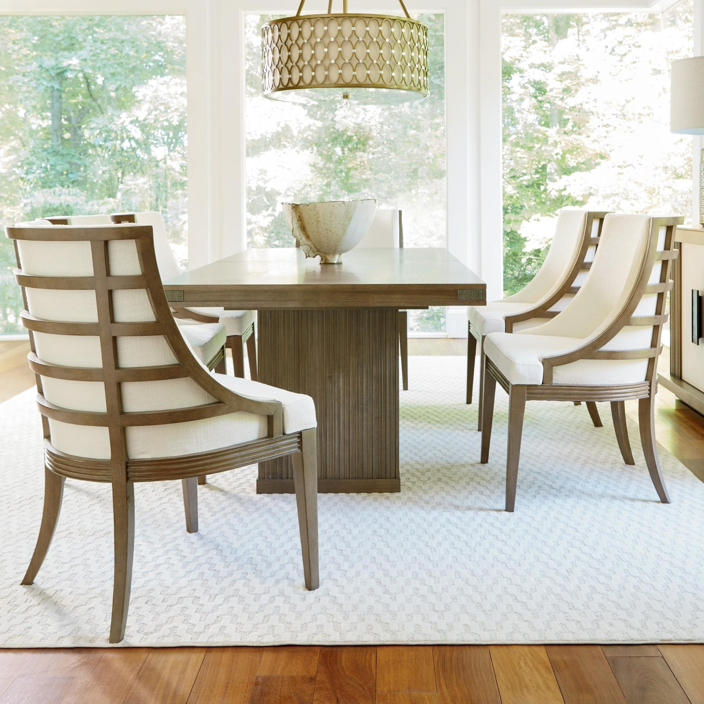 Universal Dining Tables In Latest Universal Synchronicity 7 Piece Rectangular Table And Chair Set (View 18 of 25)