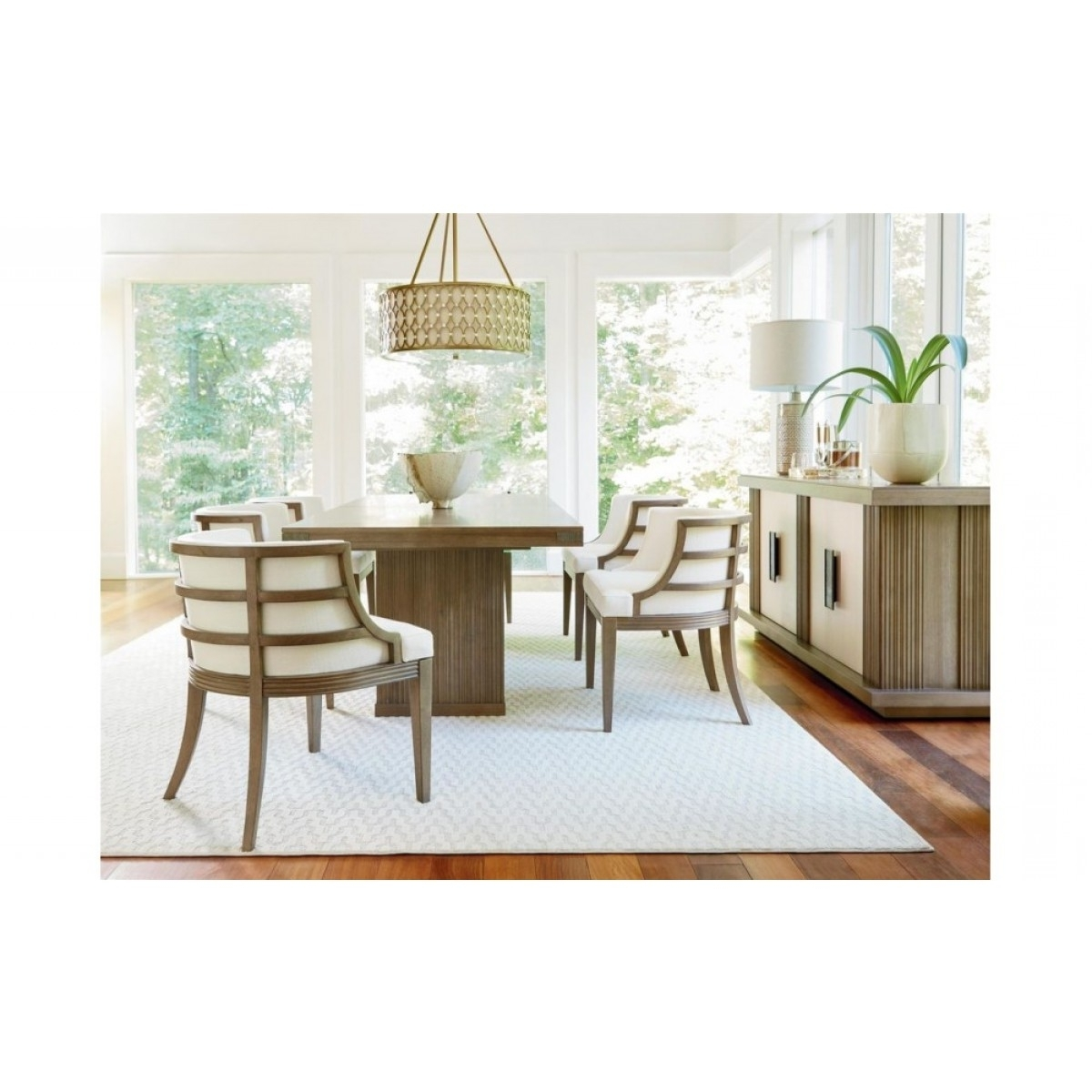 Universal Dining Tables within Most Recent Universal Furniture Synchronicity Dining Table Set In Horizon