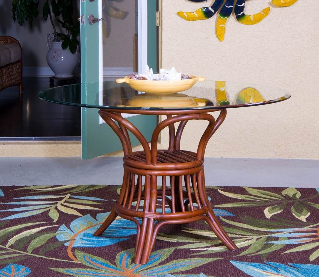 Universal Round Dining Table Base - Sienna/antique Honey/rustic in Current Outdoor Sienna Dining Tables