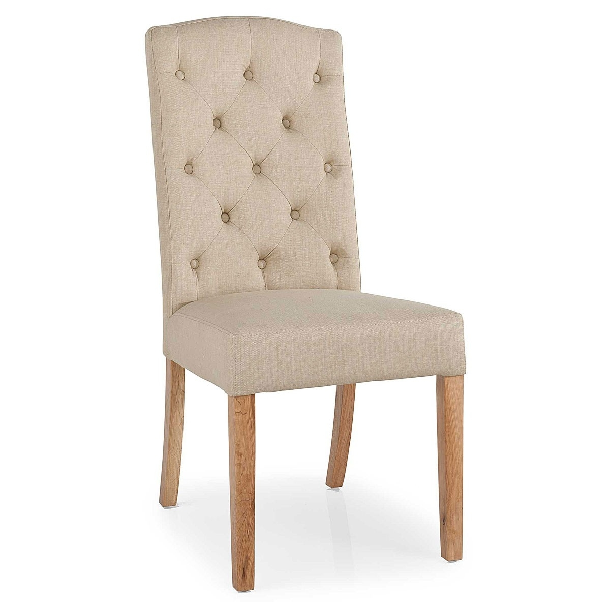 Upholstered French Style Dining Chairs with regard to Most Up-to-Date Button Back Dining Chairs