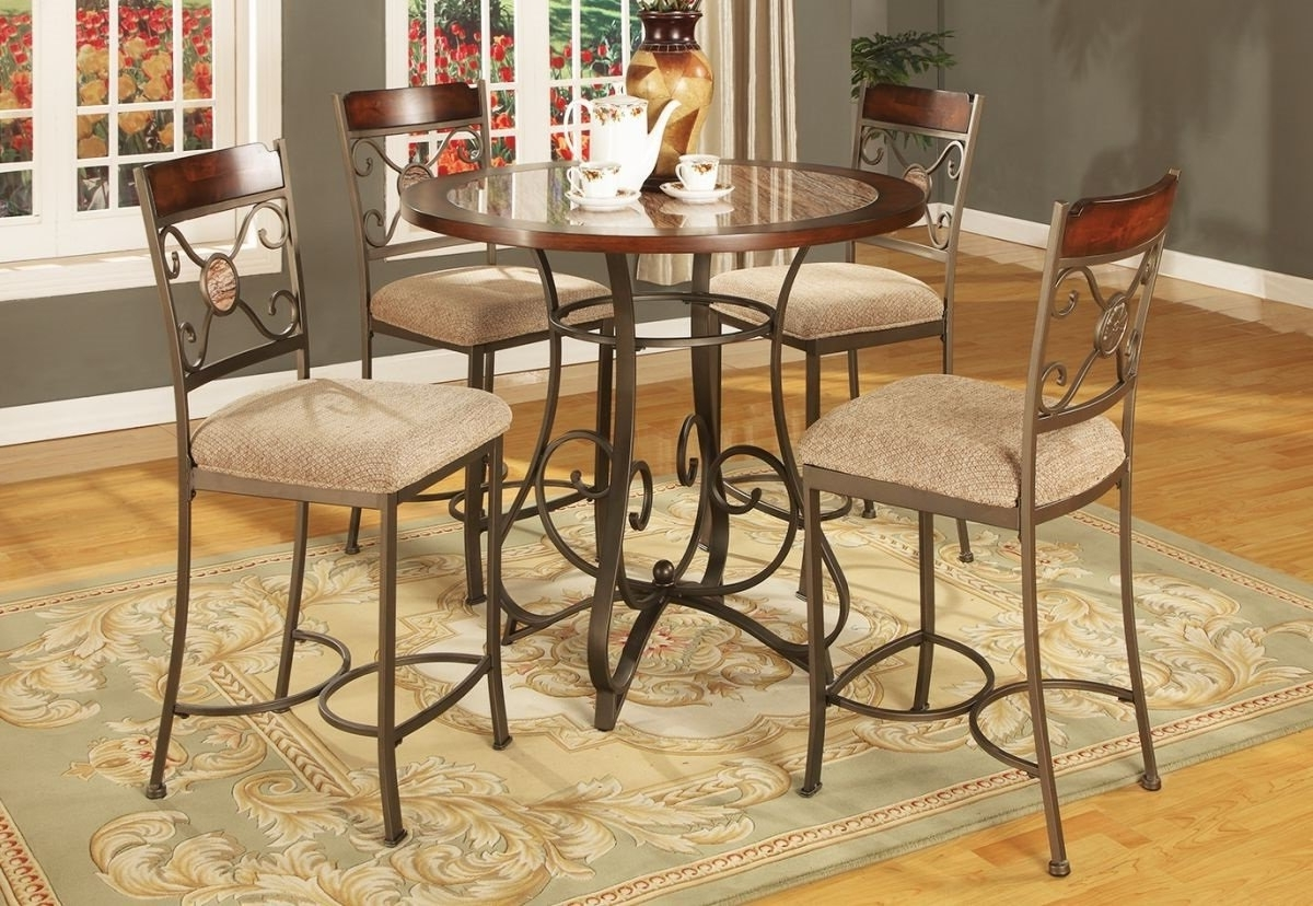 Valencia 3 Piece Counter Sets With Bench pertaining to Most Popular Francine 5 Pc Counter Height Dining Room