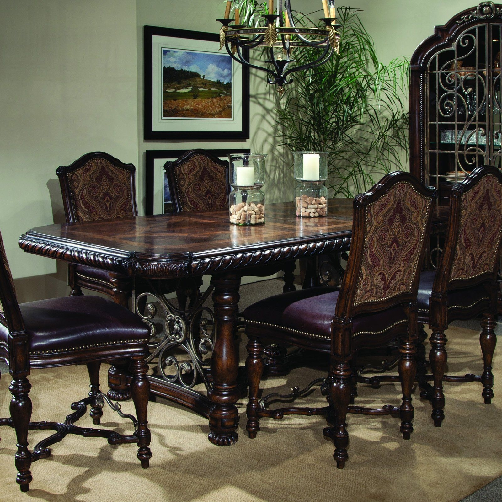 Valencia 5 Piece 60 Inch Round Dining Sets throughout Preferred A.r.t. Furniture Valencia Counter Height Dining Table - Hand