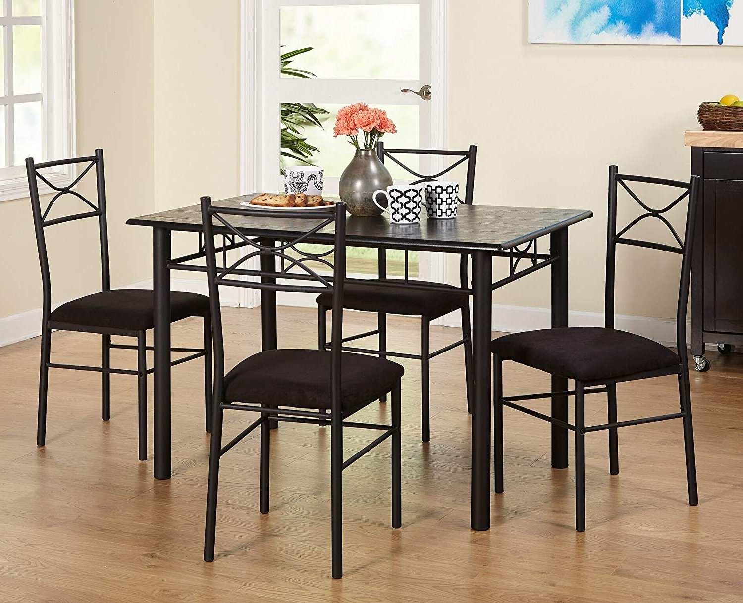 Valencia 5 Piece Round Dining Sets With Uph Seat Side Chairs intended for Popular Amazon - Target Marketing Systems 5 Piece Valencia Dining Set