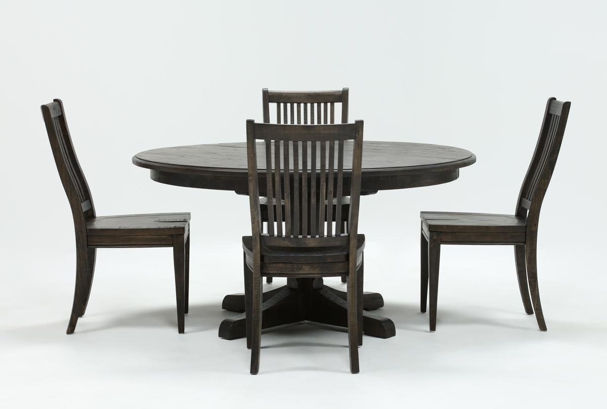 Valencia 5 Piece Round Dining Sets With Uph Seat Side Chairs pertaining to Well-liked Valencia 5 Piece 60 Inch Round Dining Set