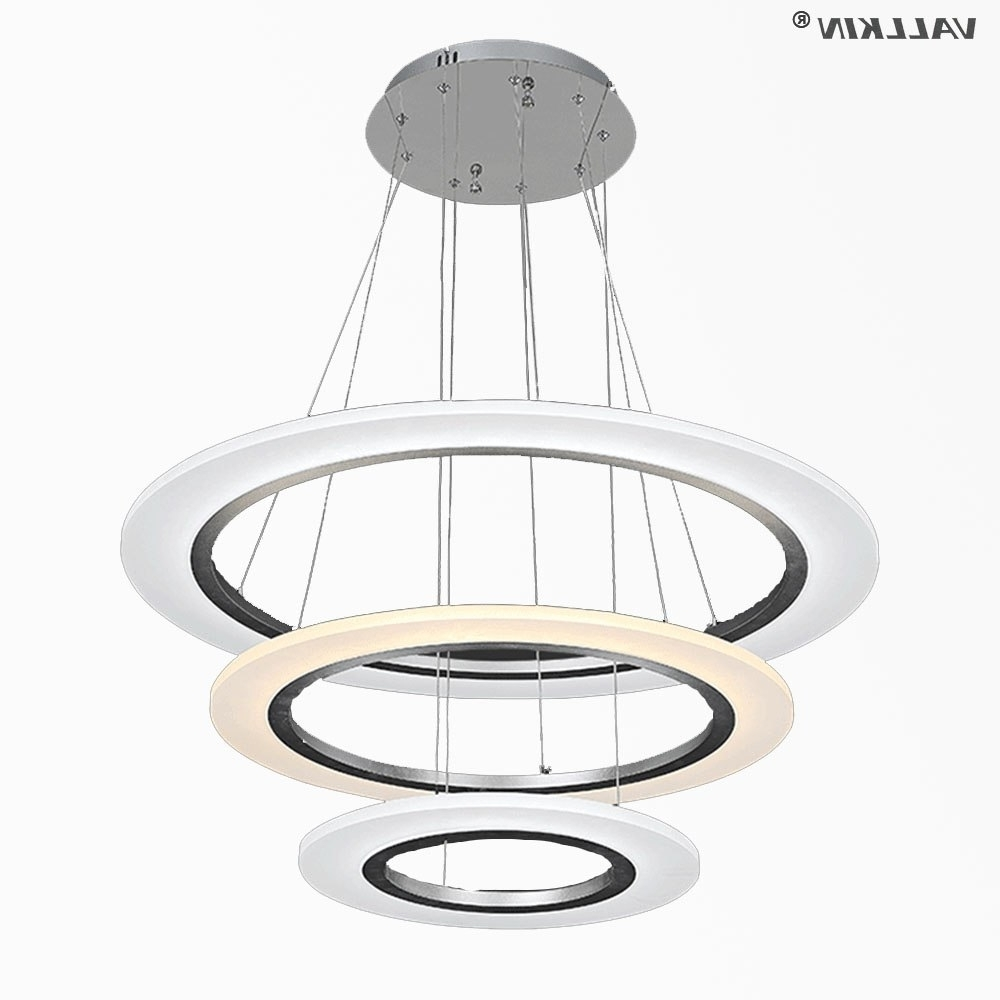 Vallkin Led Pendant Lights Modern Kitchen Acrylic Suspension Hanging Within Well Liked Led Dining Tables Lights (View 18 of 25)