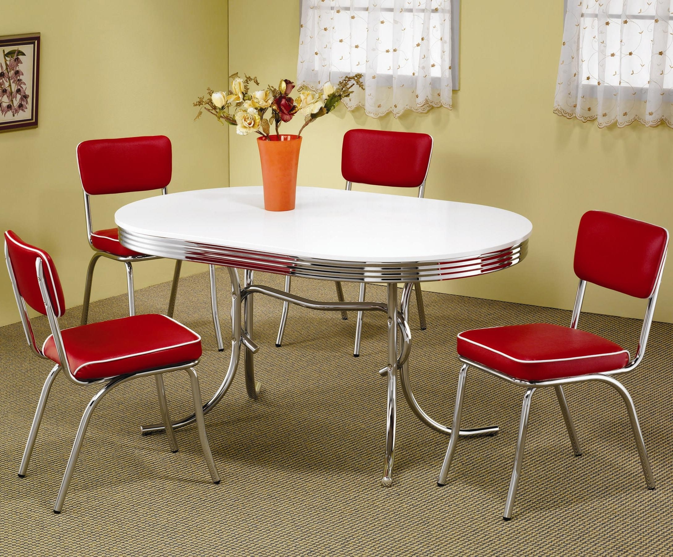 Value City Intended For Chrome Dining Sets (View 15 of 25)