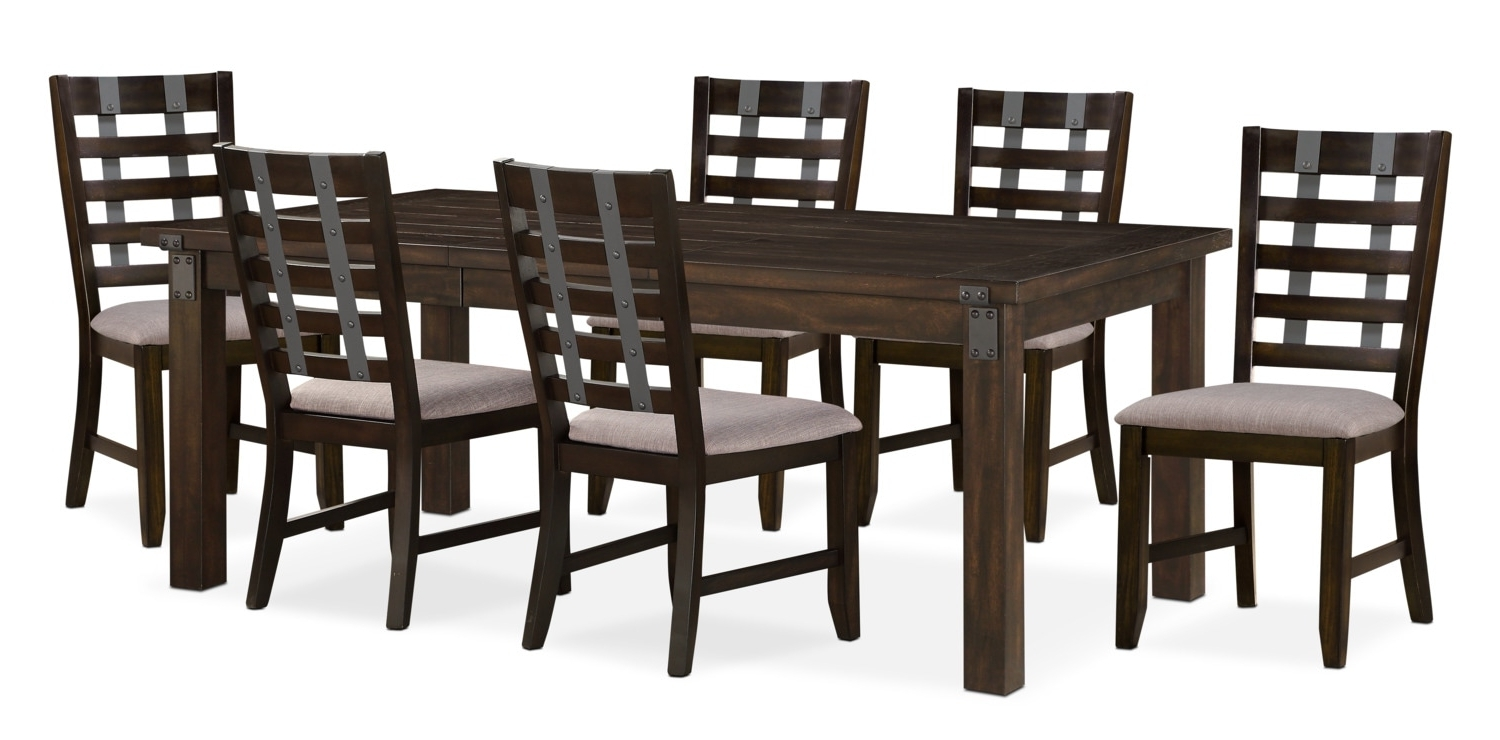 Value City With Gavin 6 Piece Dining Sets With Clint Side Chairs (Gallery 9 of 25)