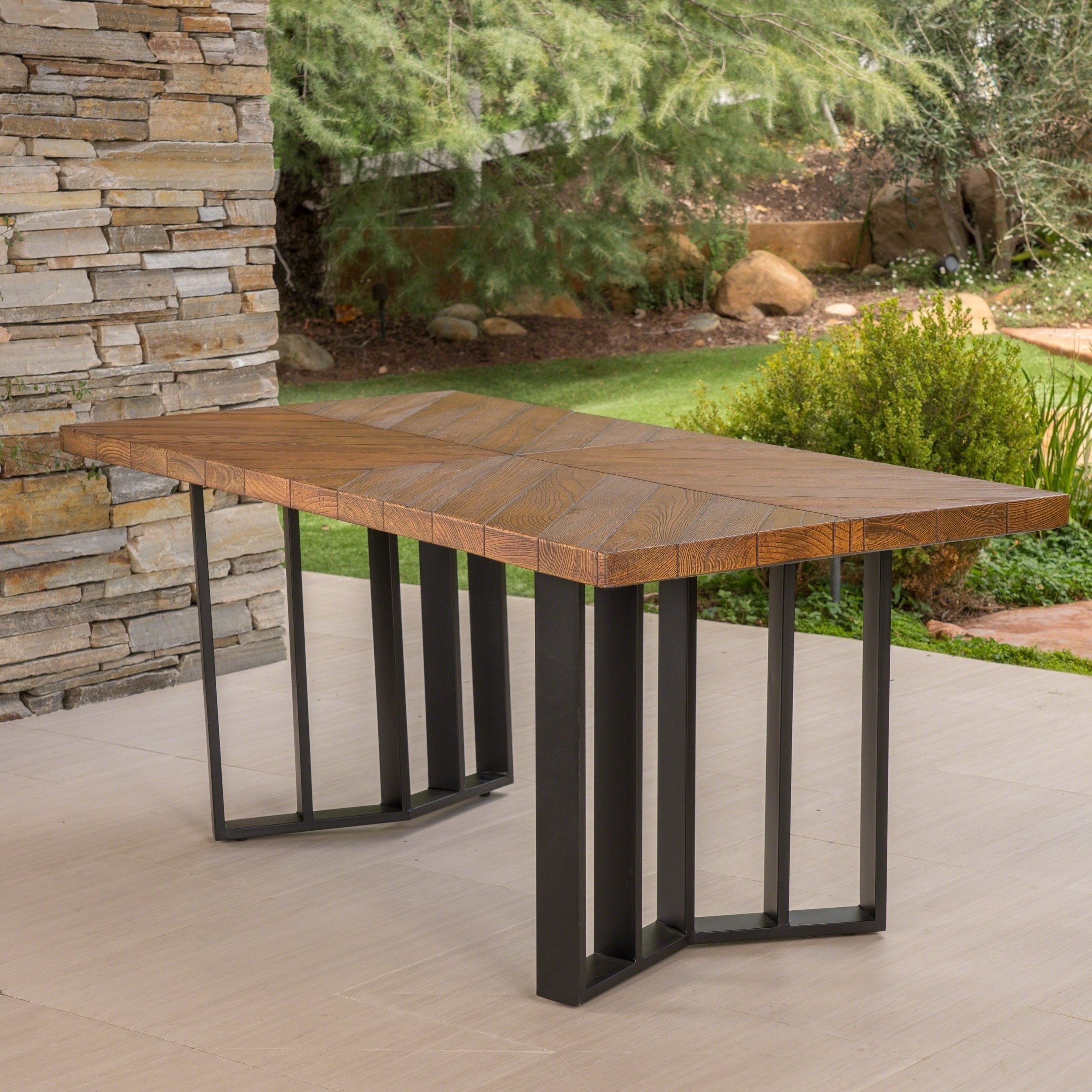 Verona Dining Tables for Widely used Shop Verona Outdoor Rectangle Light-Weight Concrete Dining Table
