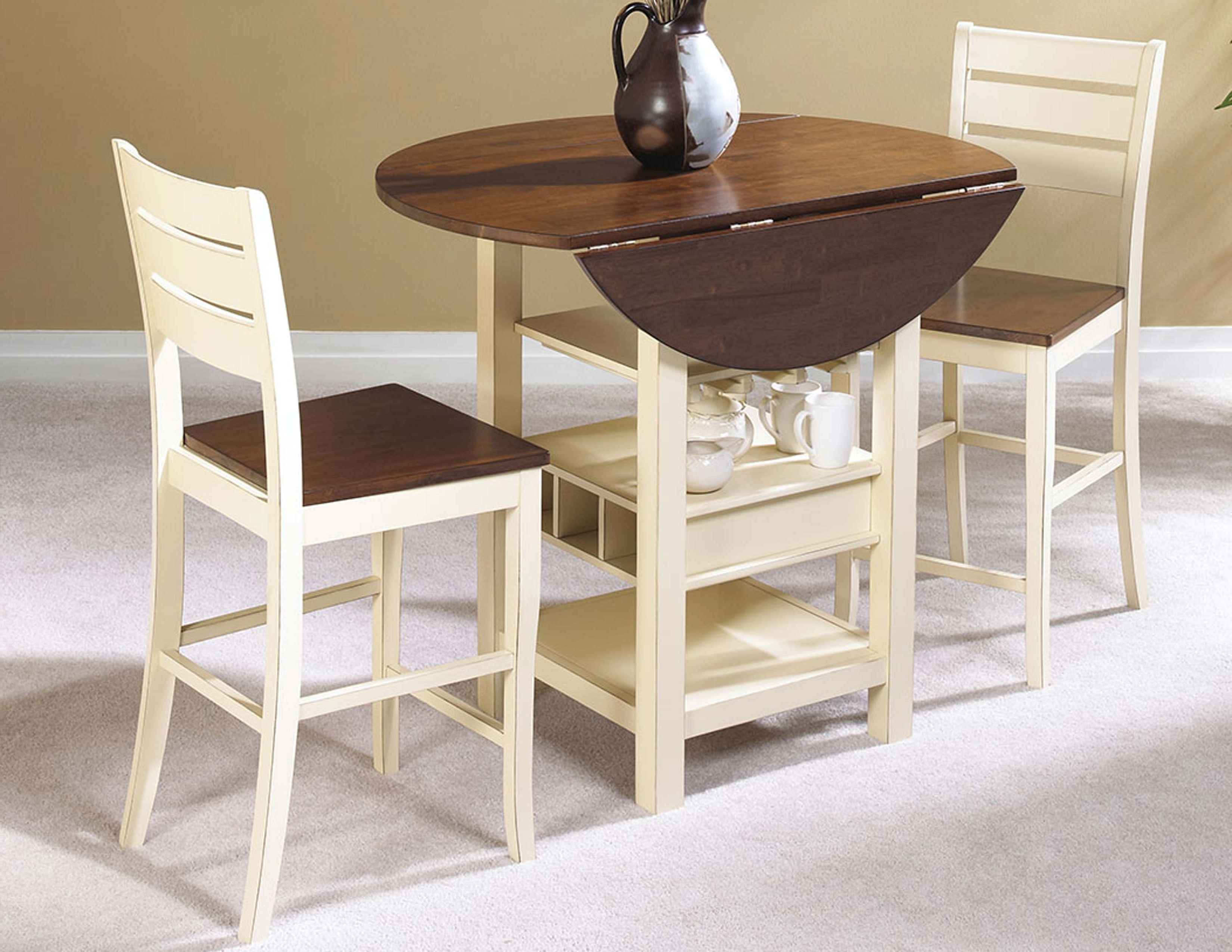 Very Small Round Drop Leaf Dining Table With Wine And Pier One for Well-liked Small Dining Tables For 2
