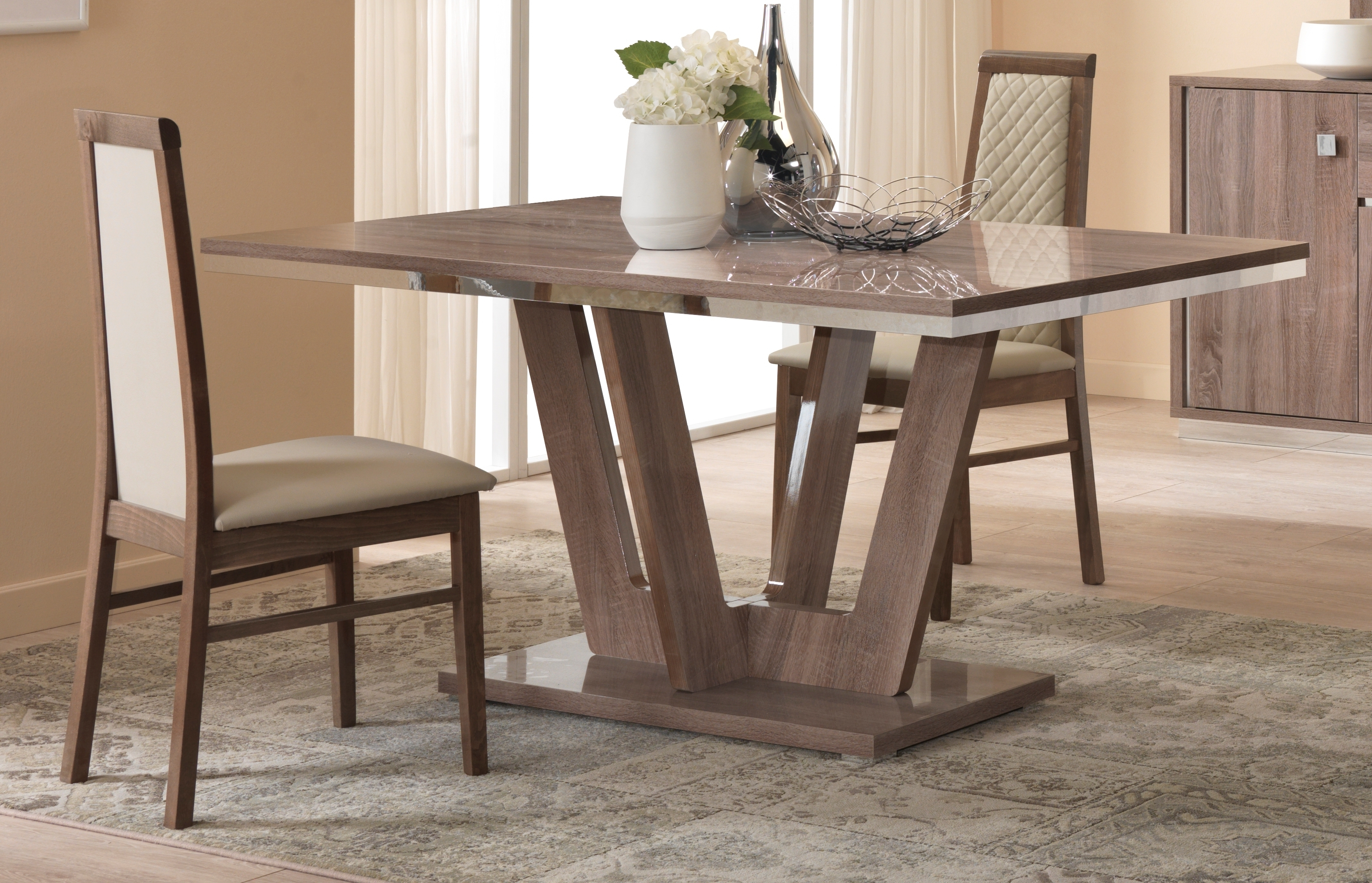 Victor Dining Tables Regarding 2017 Victor Oak Effect Fixed Dining Table – Modish Furnishing (View 22 of 25)