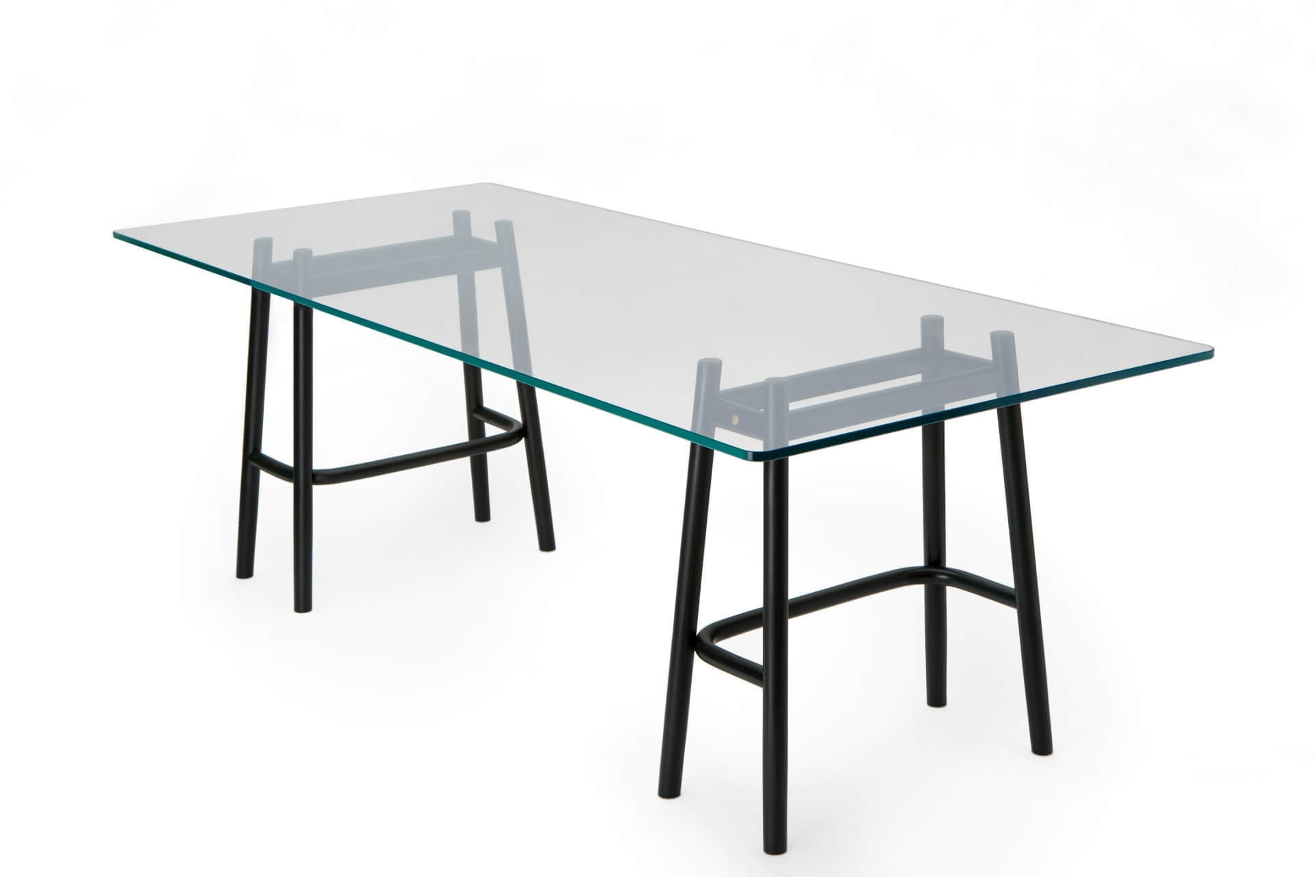 Vienna Dining Tables intended for Most Recent Single Curve Dining Table – Gebrüder Thonet Vienna