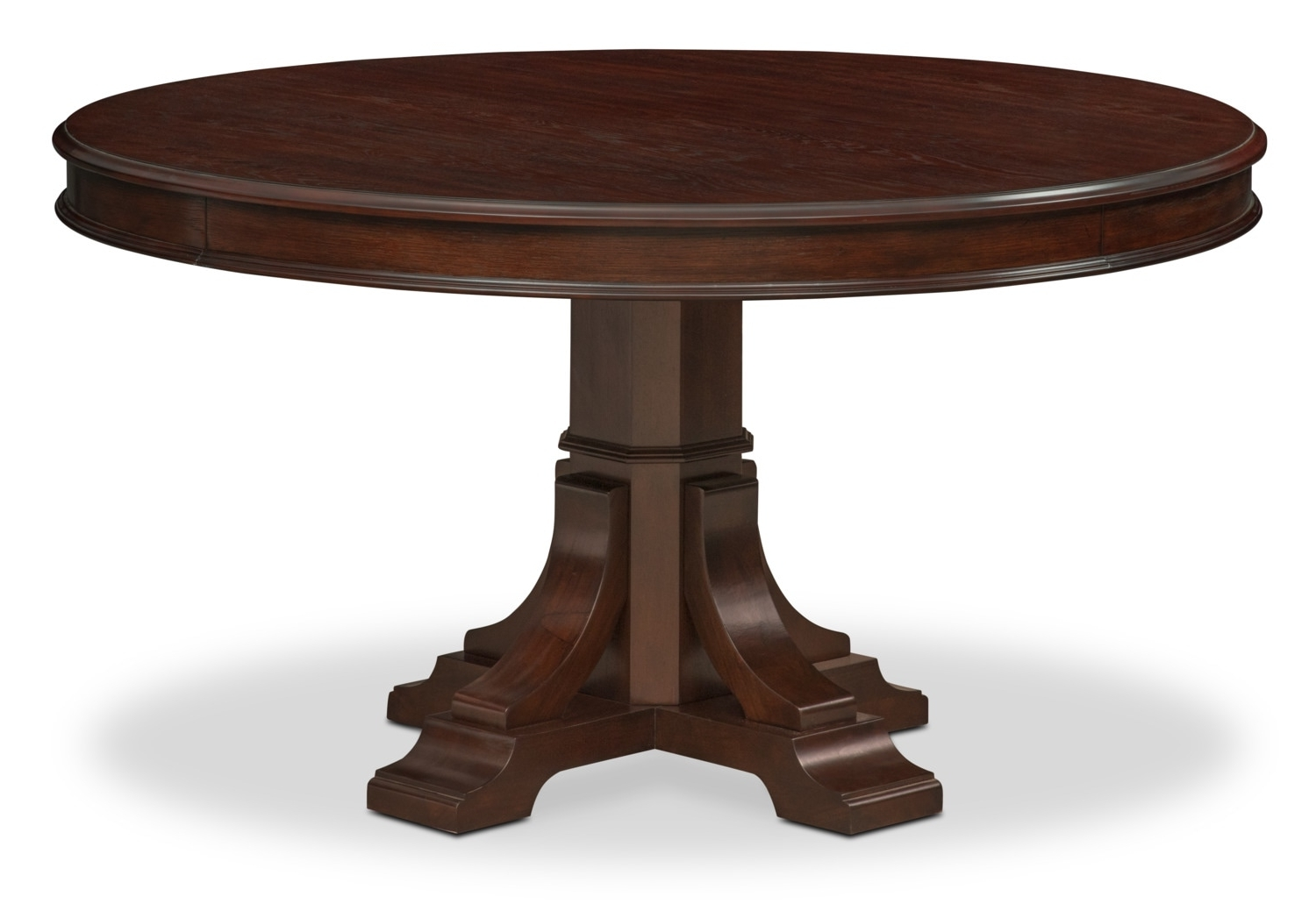 Vienna Dining Tables With Regard To Well Liked Vienna Round Dining Table – Merlot (Gallery 16 of 25)