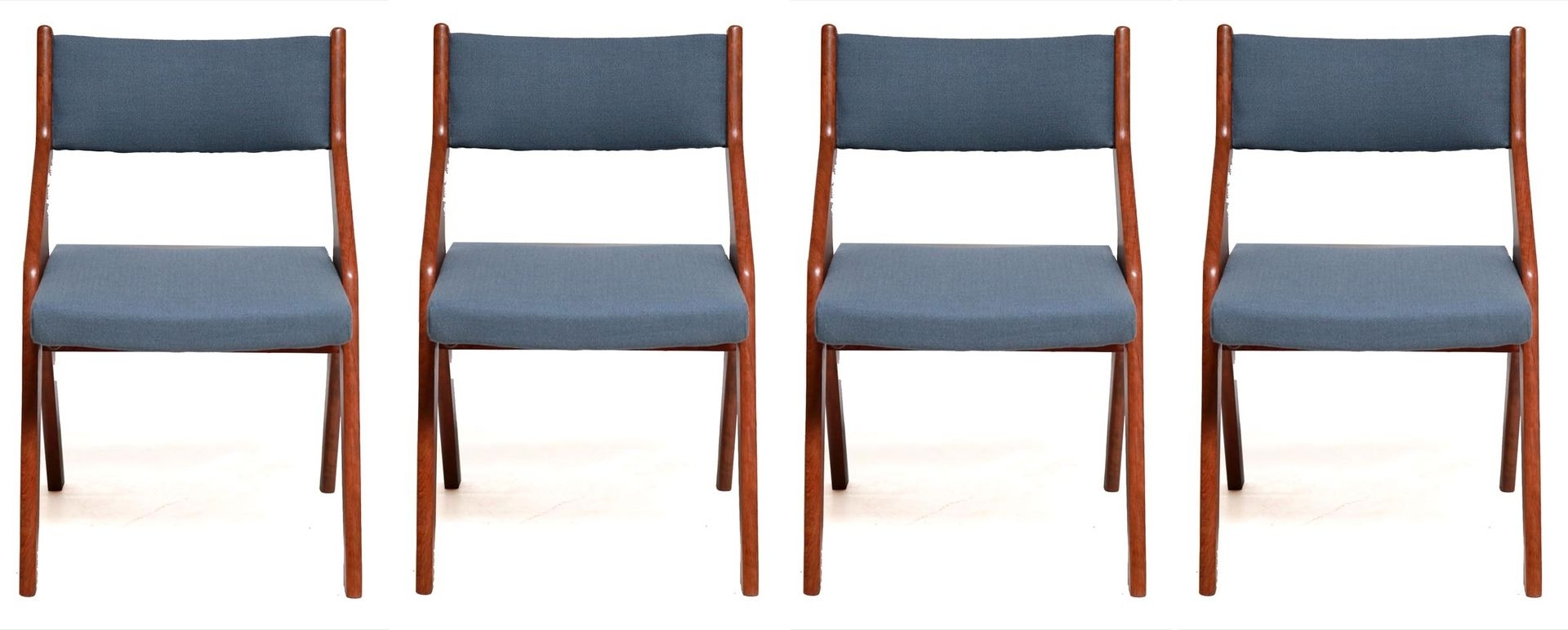 Vintage Danish Teak Wooden Dining Chairs, 1960S, Set Of 4 For Sale Within Well Liked Wooden Dining Sets (Gallery 19 of 25)