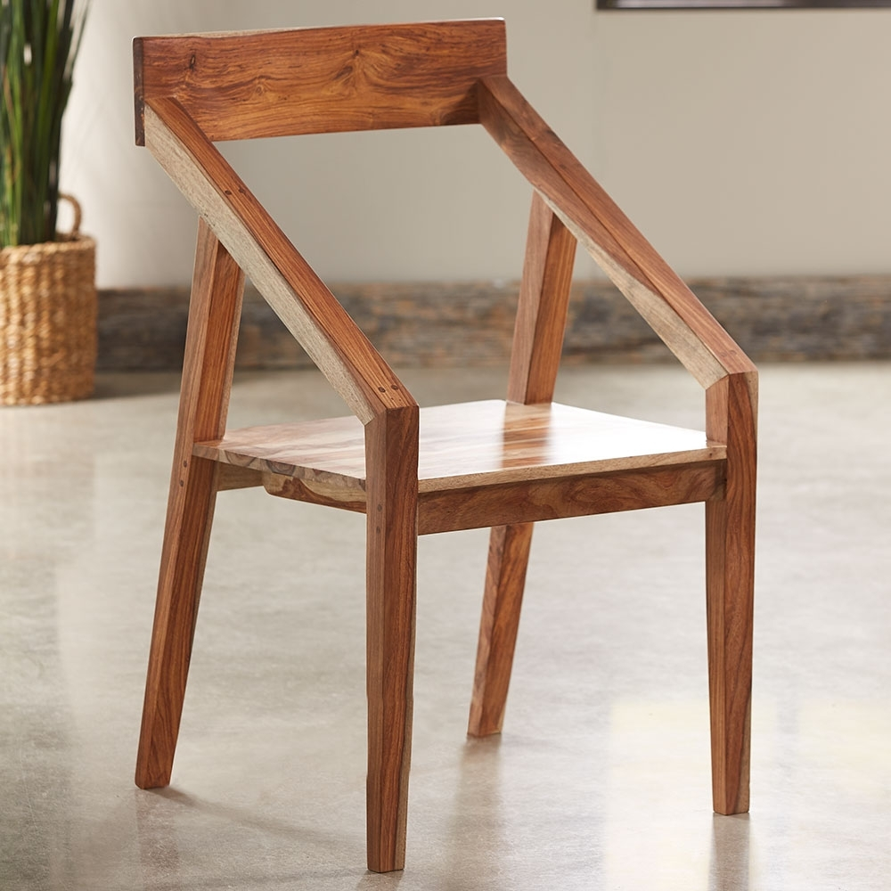 Vivaterra pertaining to Well-liked Sheesham Wood Dining Chairs