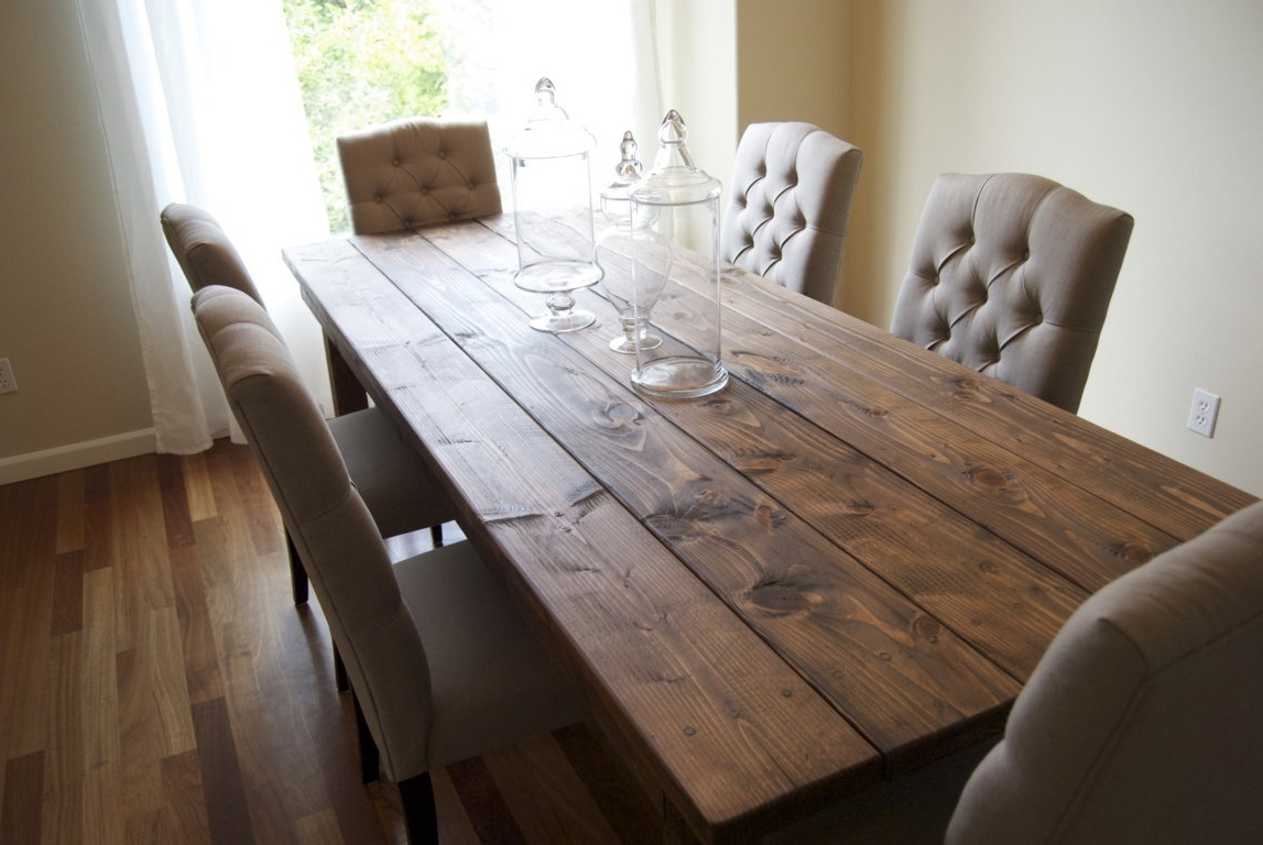 Vogue Dining Tables throughout Newest Dining Tables. Interesting Rectangular Wood Dining Table