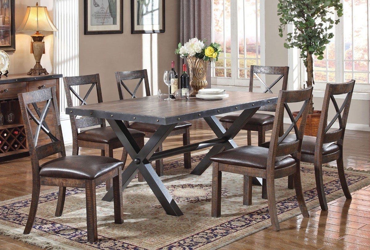 Voyager Industrial Style Dining Room Furniture Dining Room Chairs with regard to Most Current Industrial Style Dining Tables