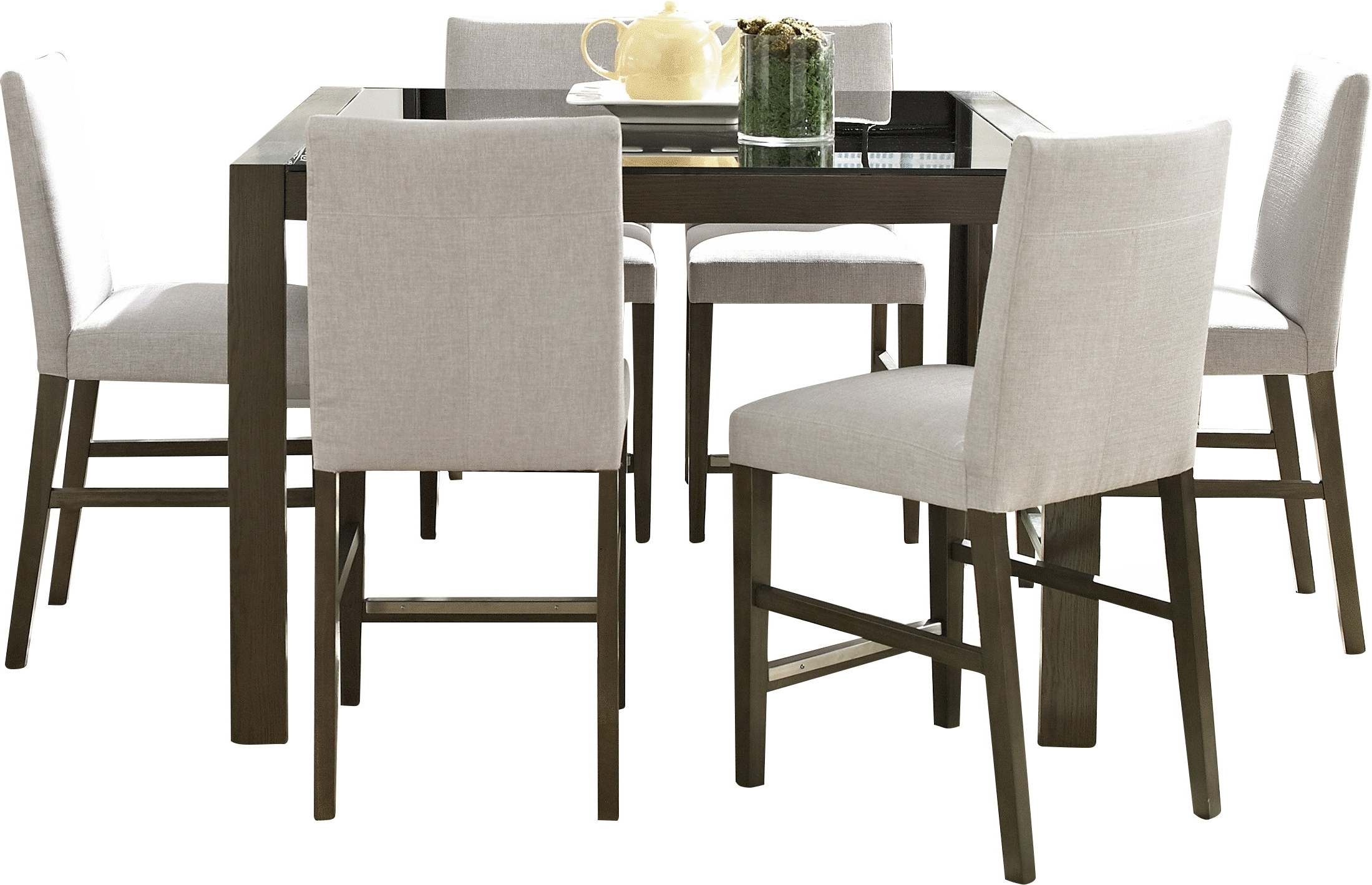 Wade Logan Girard 7 Piece Counter Height Dining Set & Reviews (View 21 of 25)