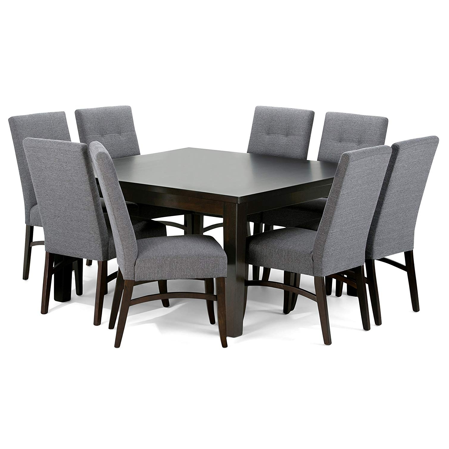 Walden 7 Piece Extension Dining Sets Inside Most Recently Released Amazon – Simpli Home Ezra 9 Piece Dining Set, Slate Grey – Table (View 18 of 25)